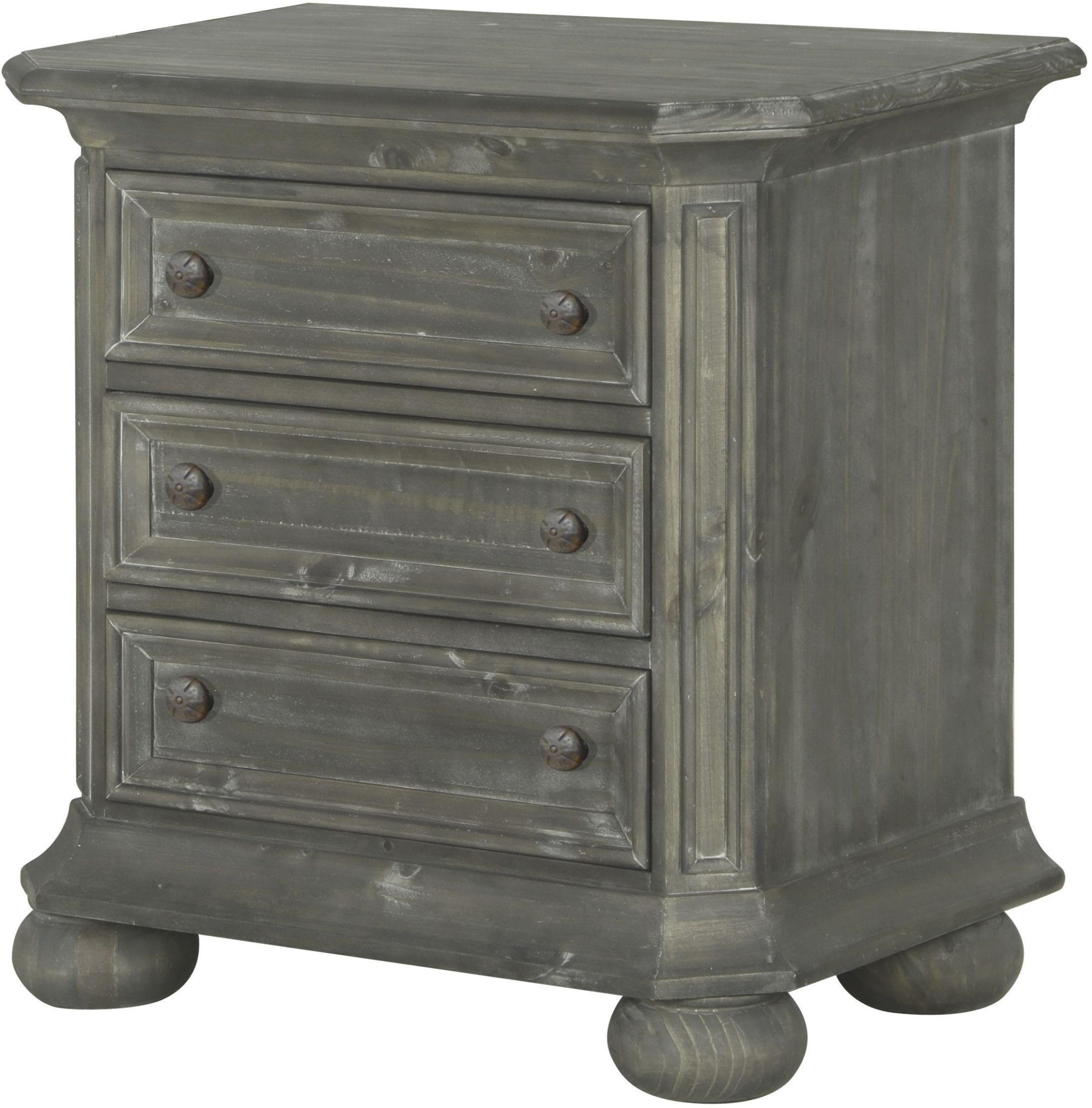 Cheswick Washed Linen Grey Nightstand from Magnussen Home