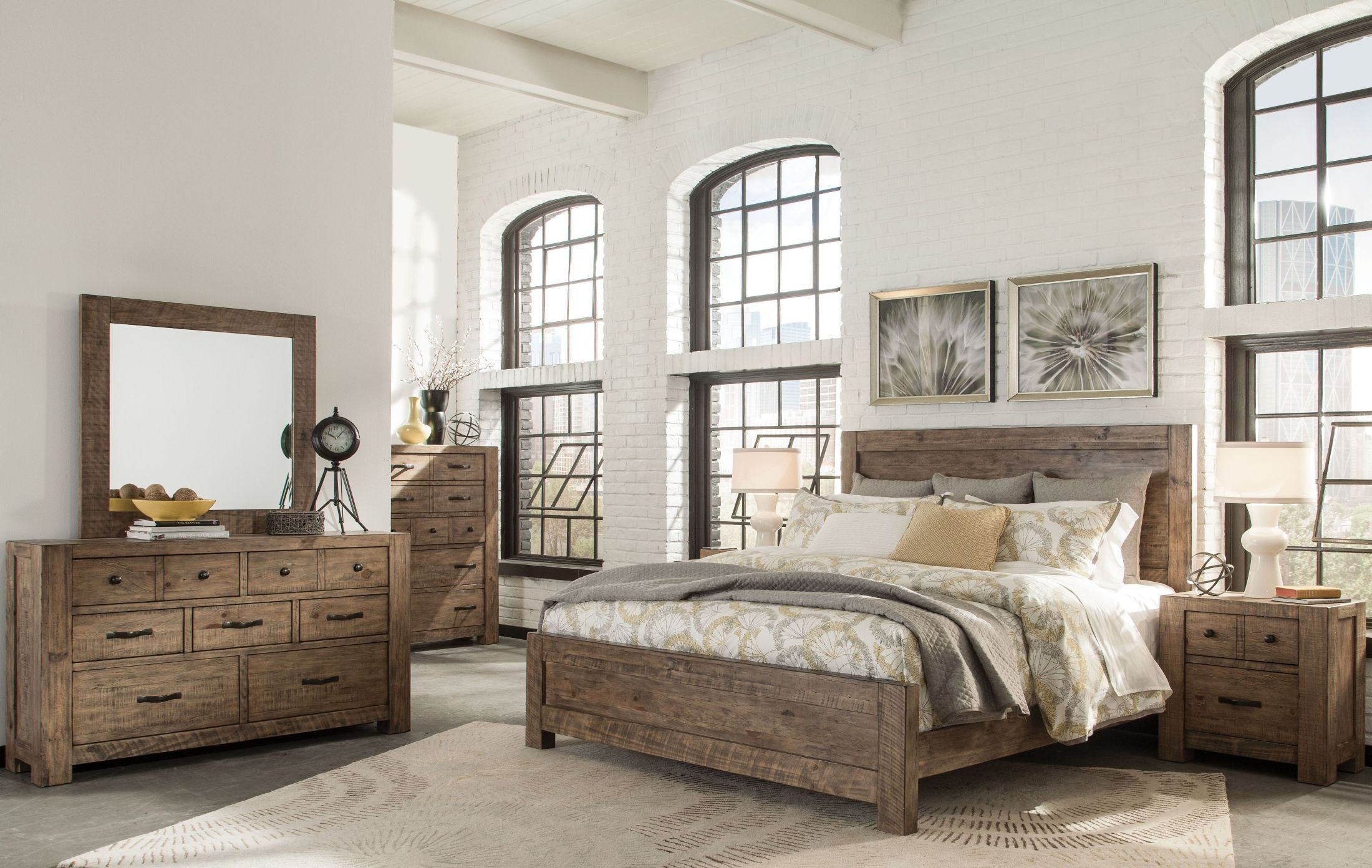 Griffith Weathered Toffee Panel Bedroom Set from Magnussen Home