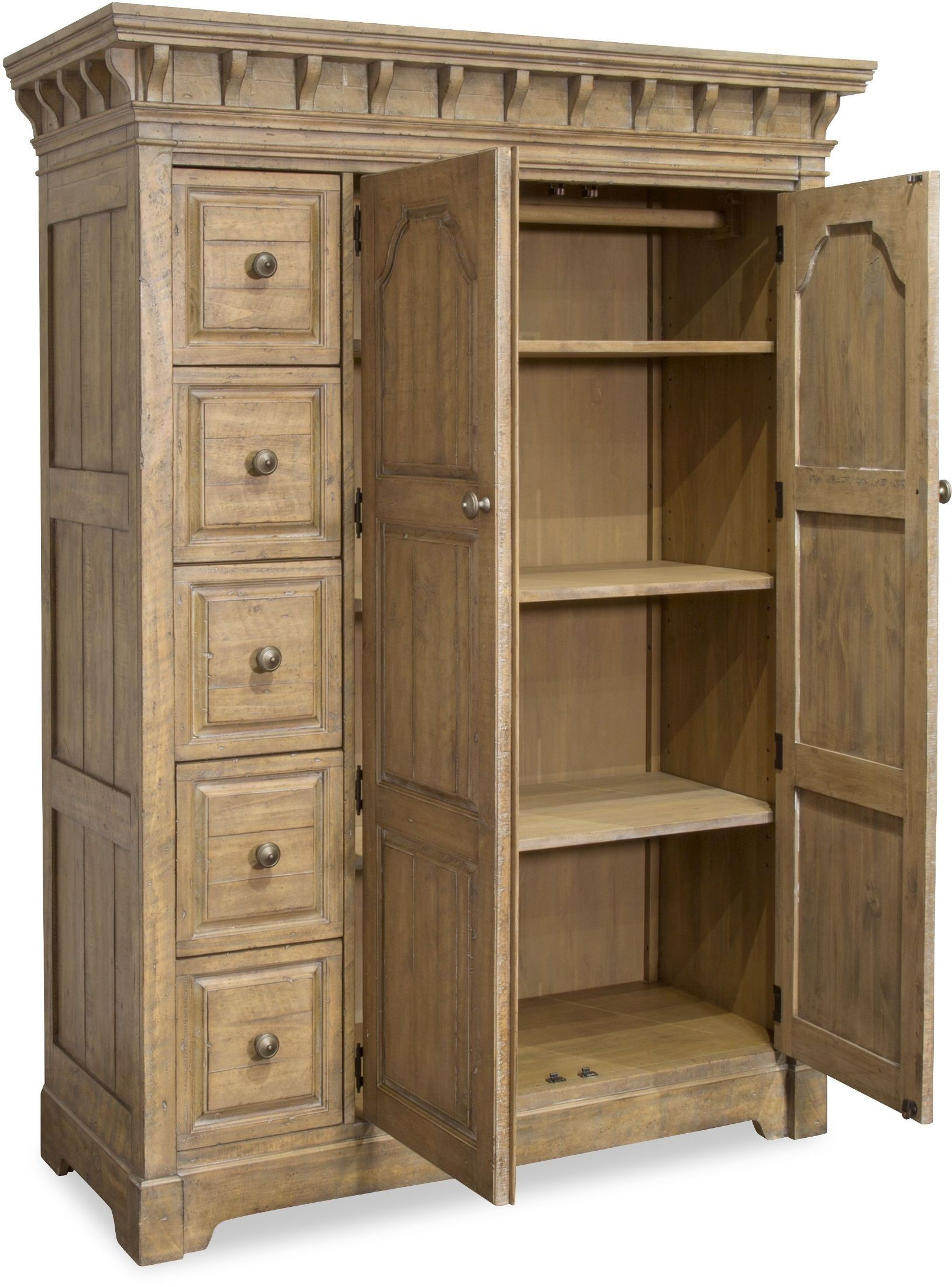 Graham Hills Cracked Wheat Panel Bedroom Set From
