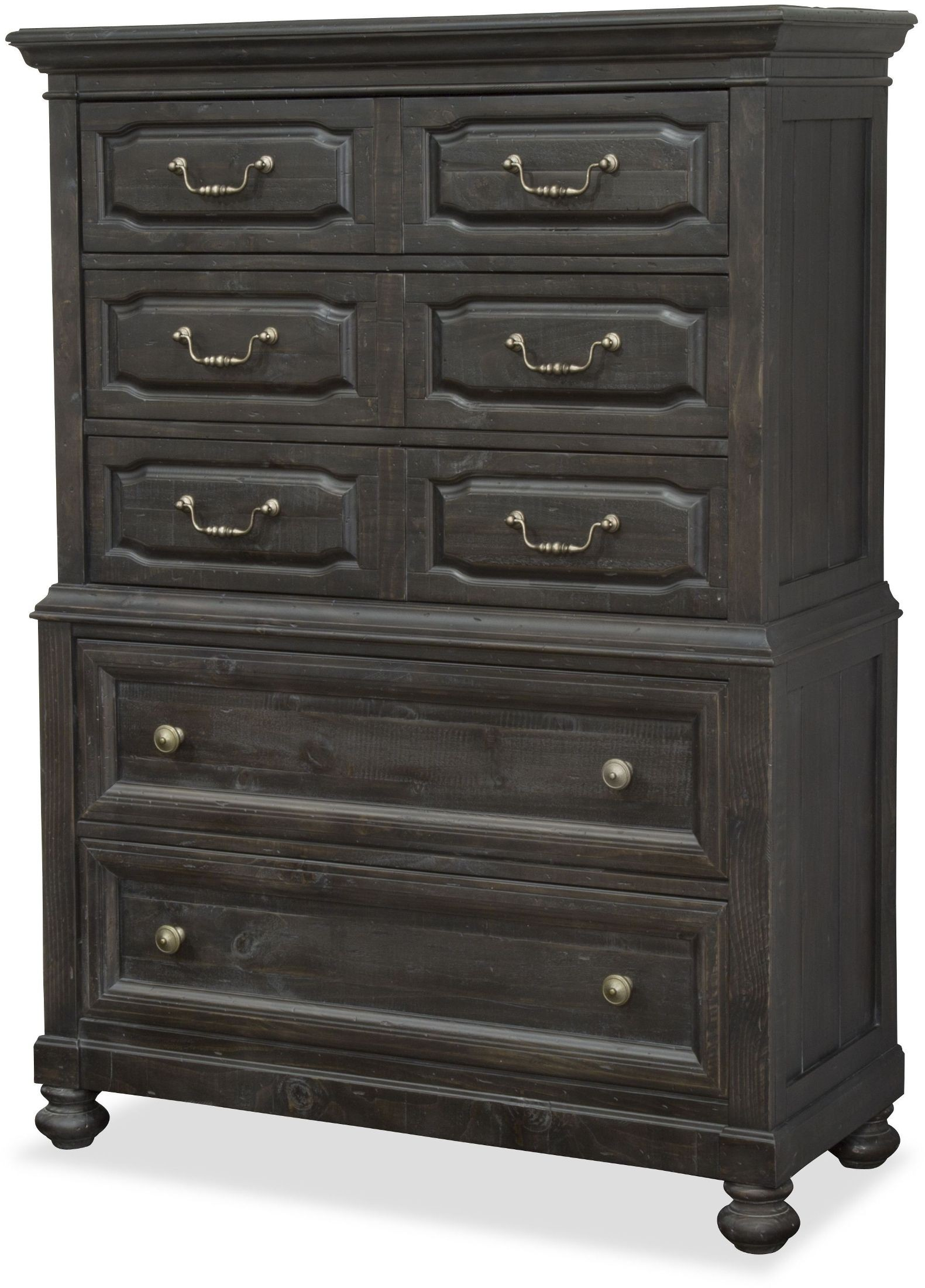 Five Drawer Chest ~ Bedford corners black drawer chest from magnussen home