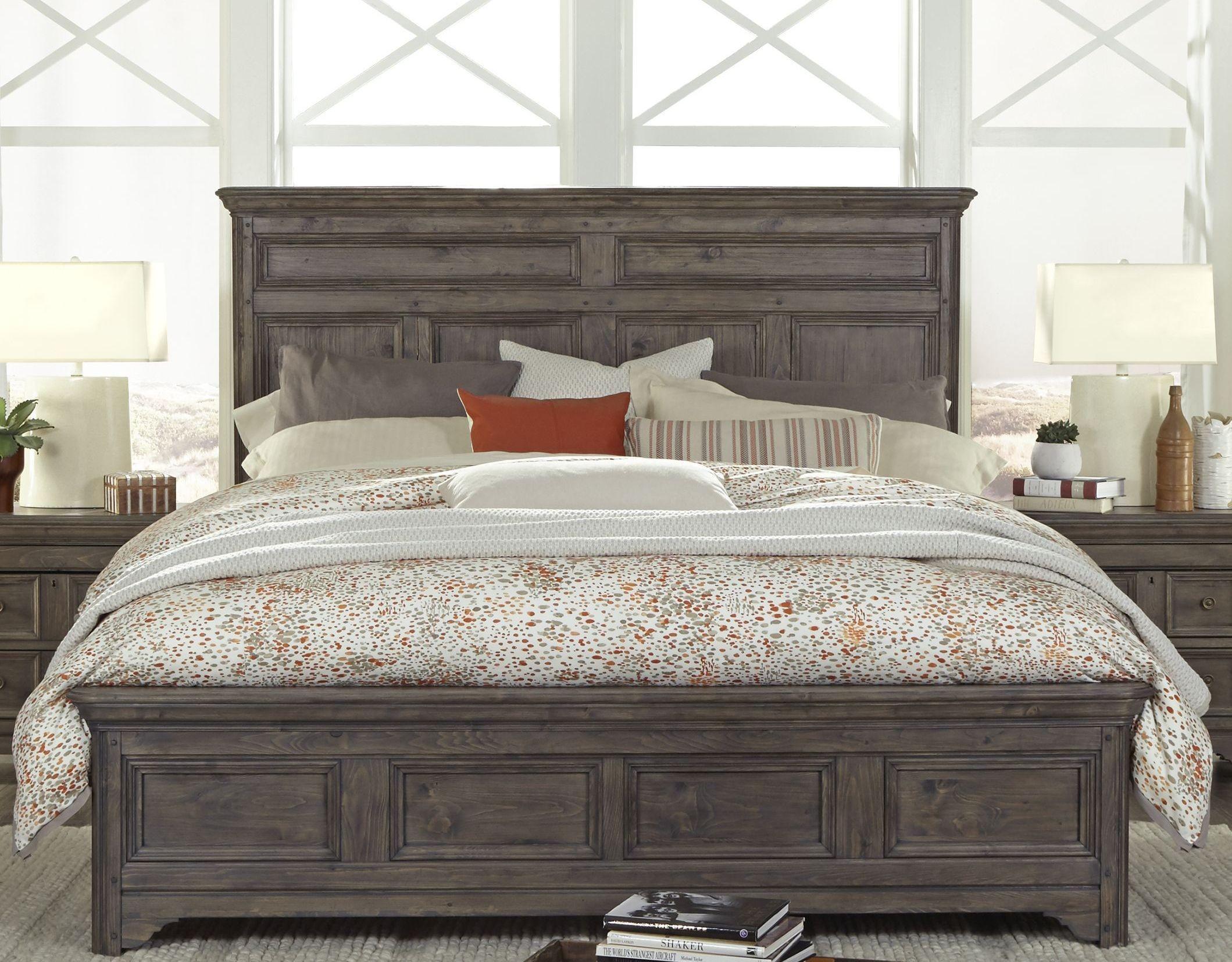 Shelter Cove Driftwood Panel Bedroom Set