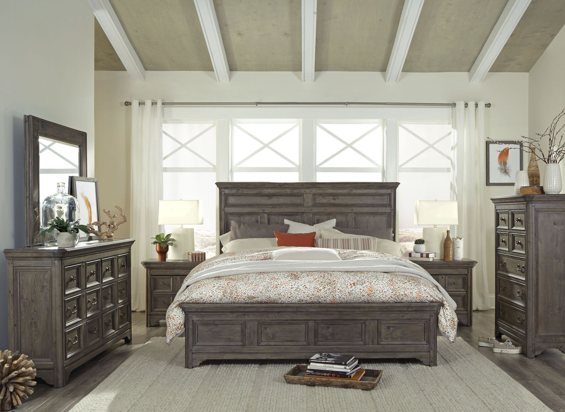 Shelter Cove Driftwood Panel Bedroom Set From Magnussen Home Coleman Furniture