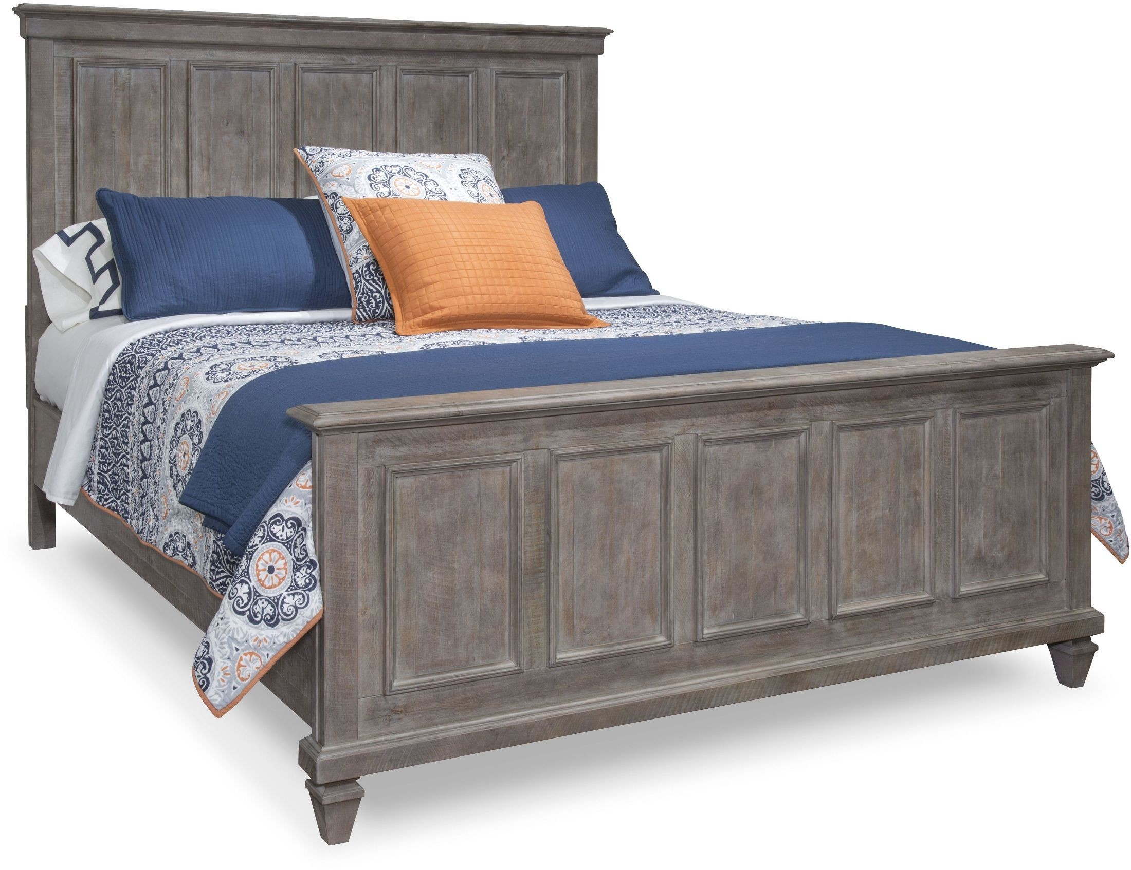 Lancaster Dovetail Grey Queen Panel Bed From Magnussen