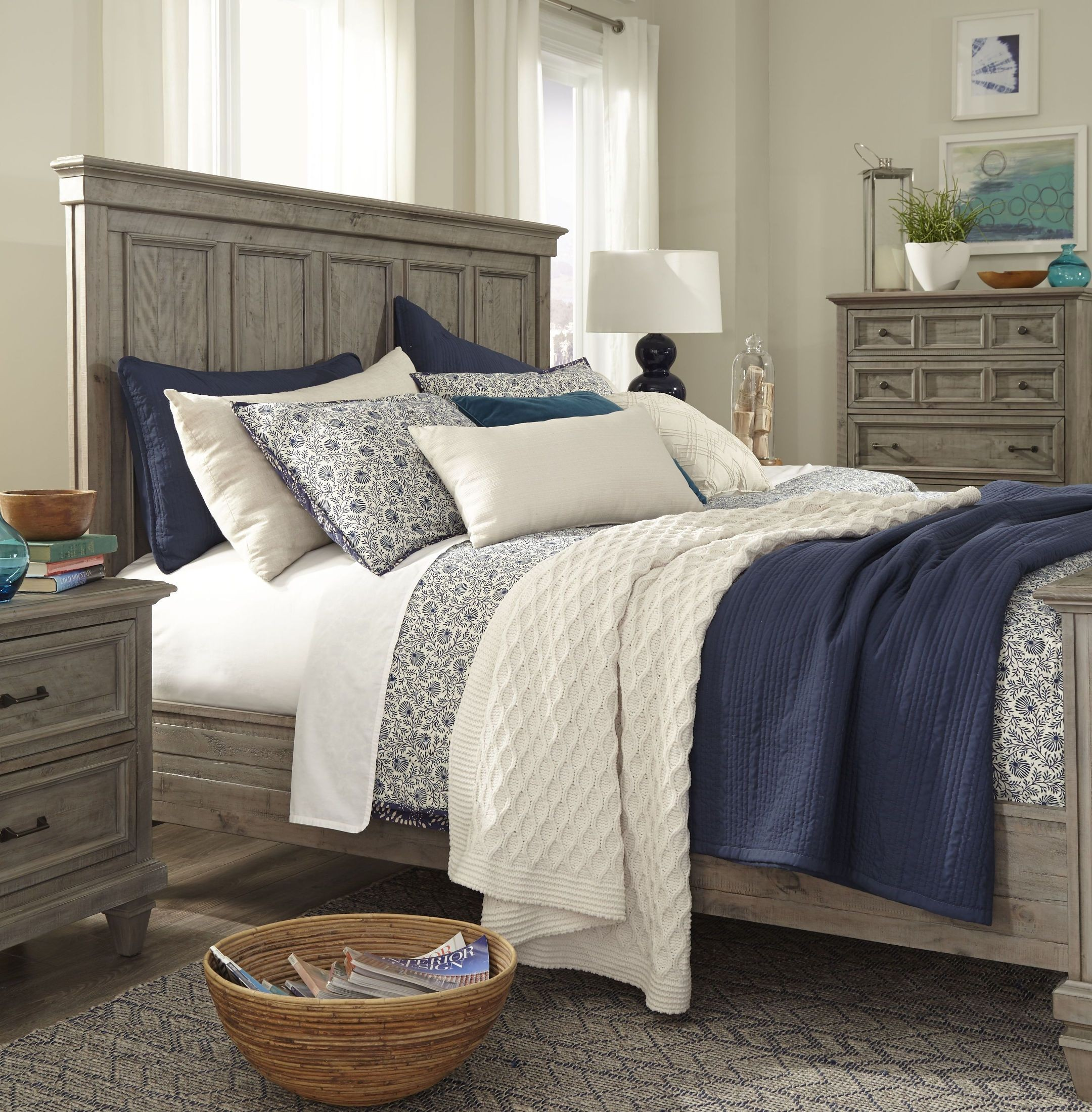 Bedroom sets coleman furniture - Lancaster Dovetail Grey Panel Bedroom Set
