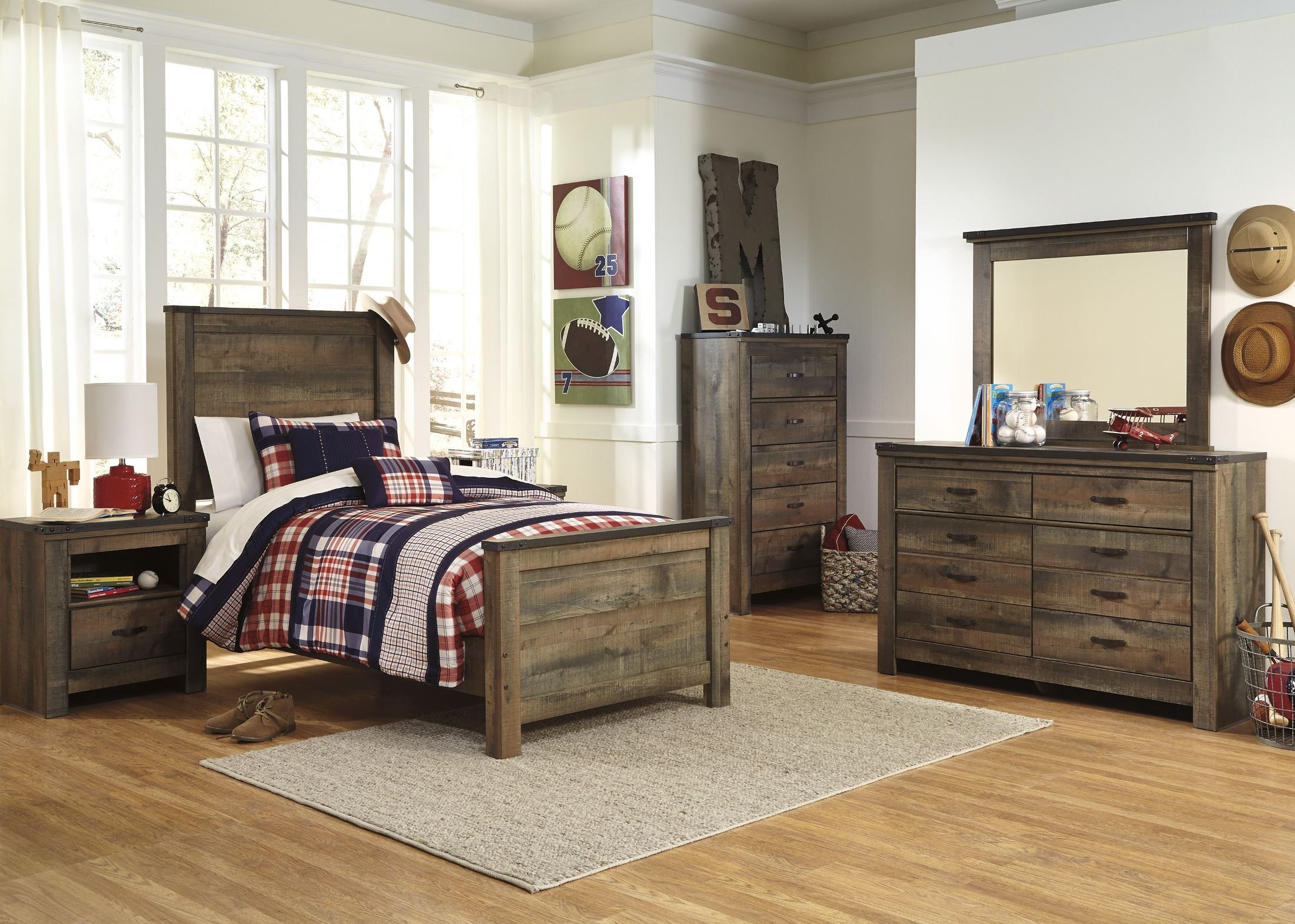 Trinell Brown Youth Panel Bedroom Set From Ashley B446 52