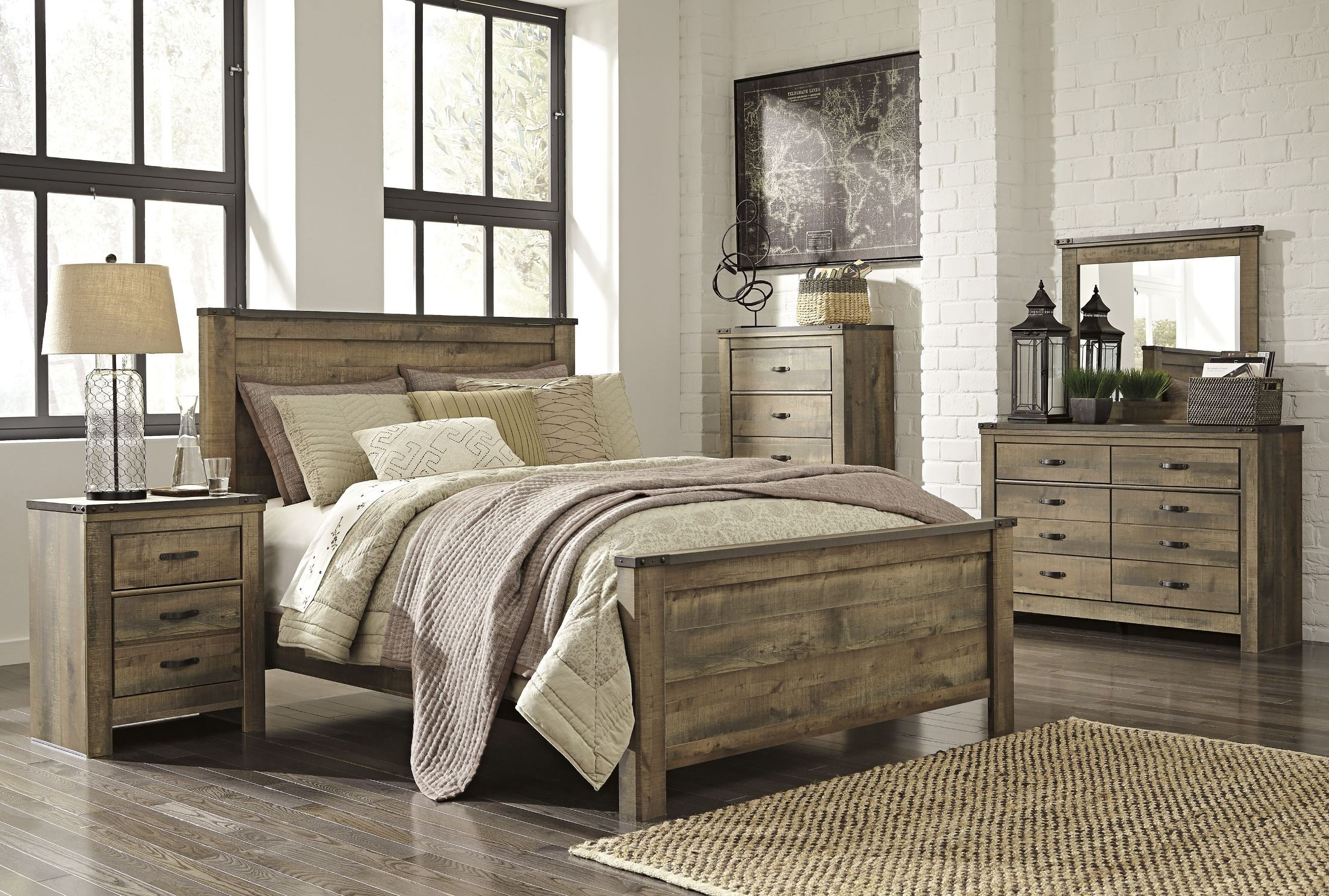 Trinell Brown Two Drawer Night Stand From Ashley B446 92