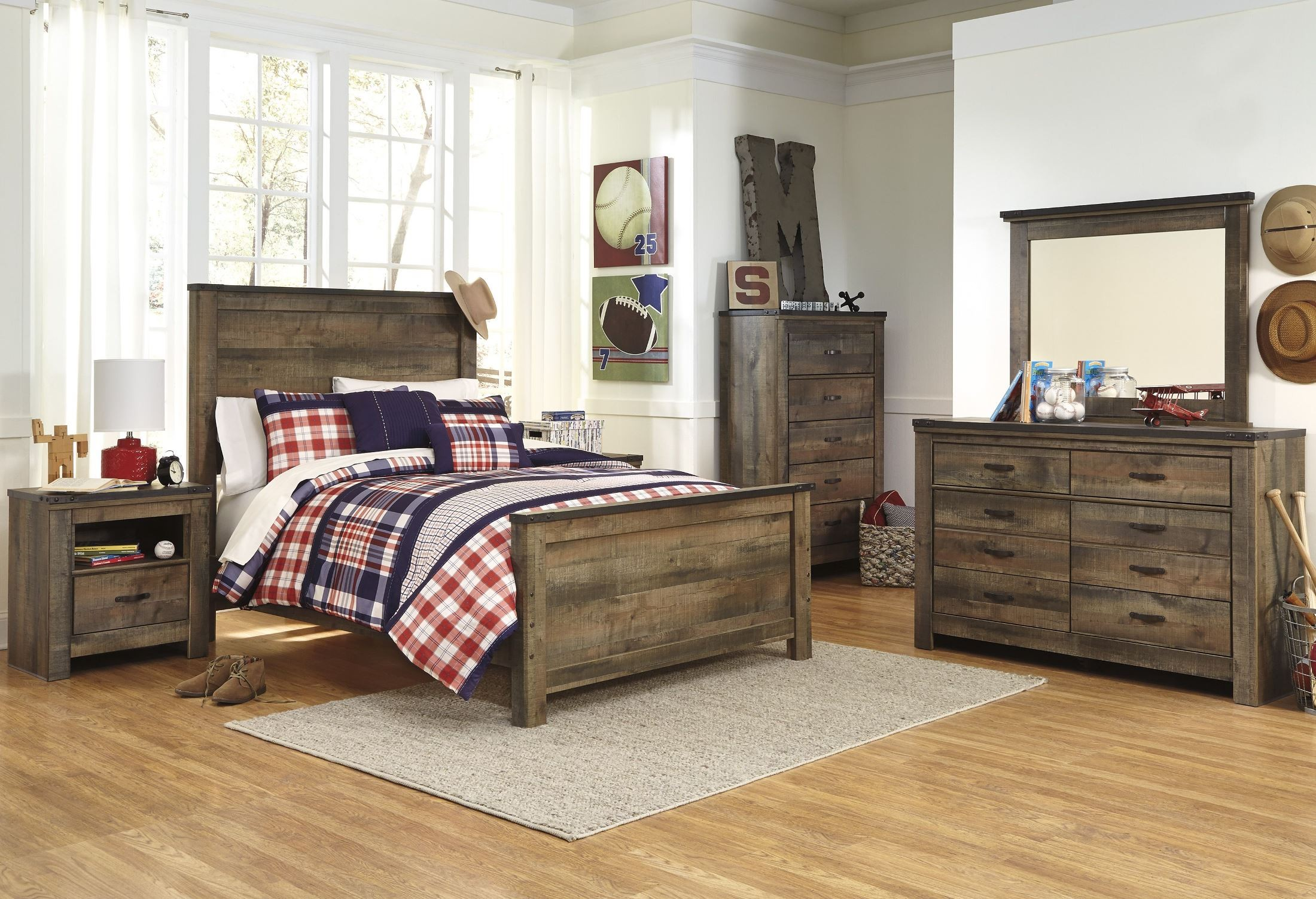 Trinell Brown Panel Bedroom Set From Ashley B446 54 57 96