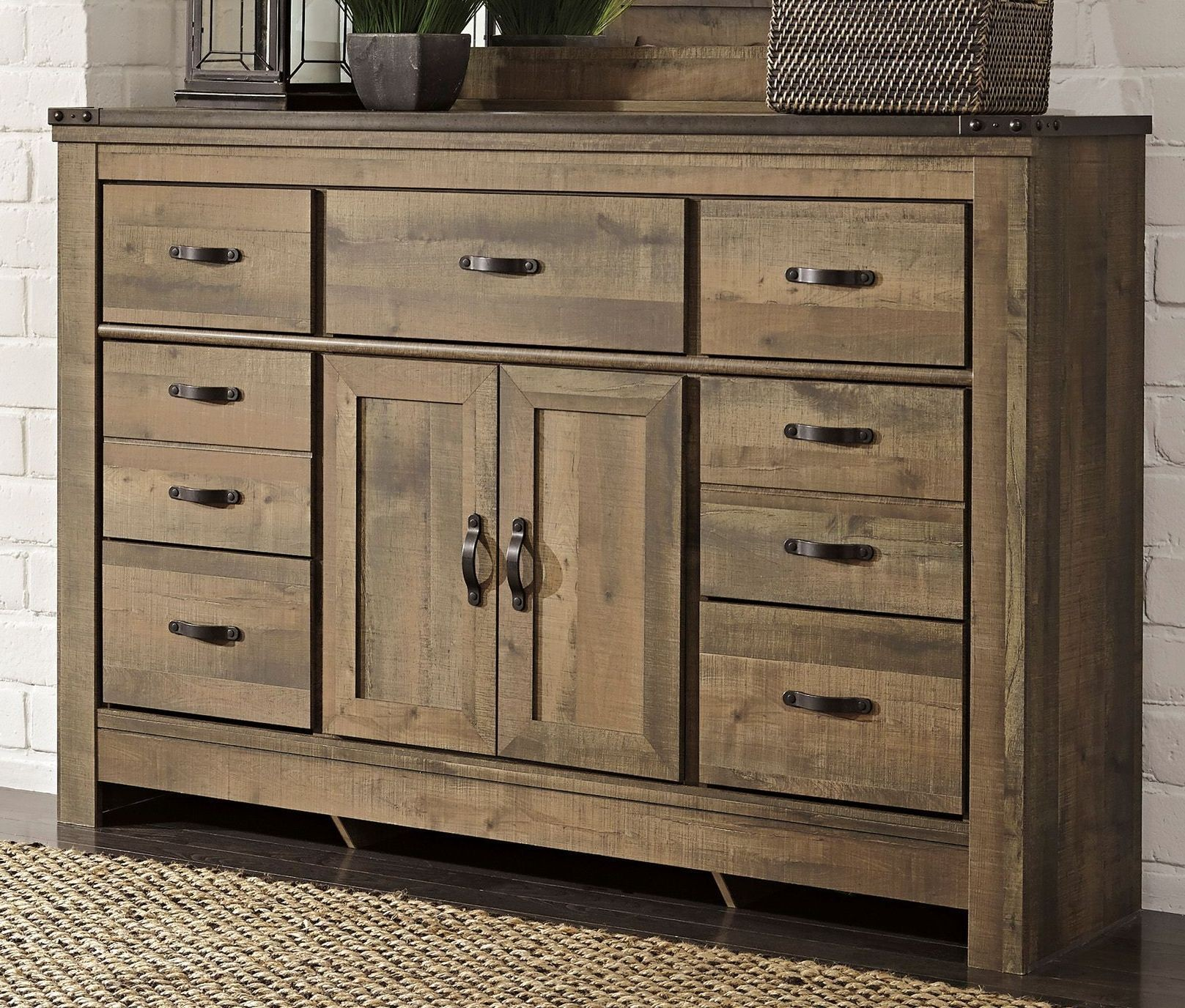 Trinell Dresser with Fireplace Option from Ashley B446 32