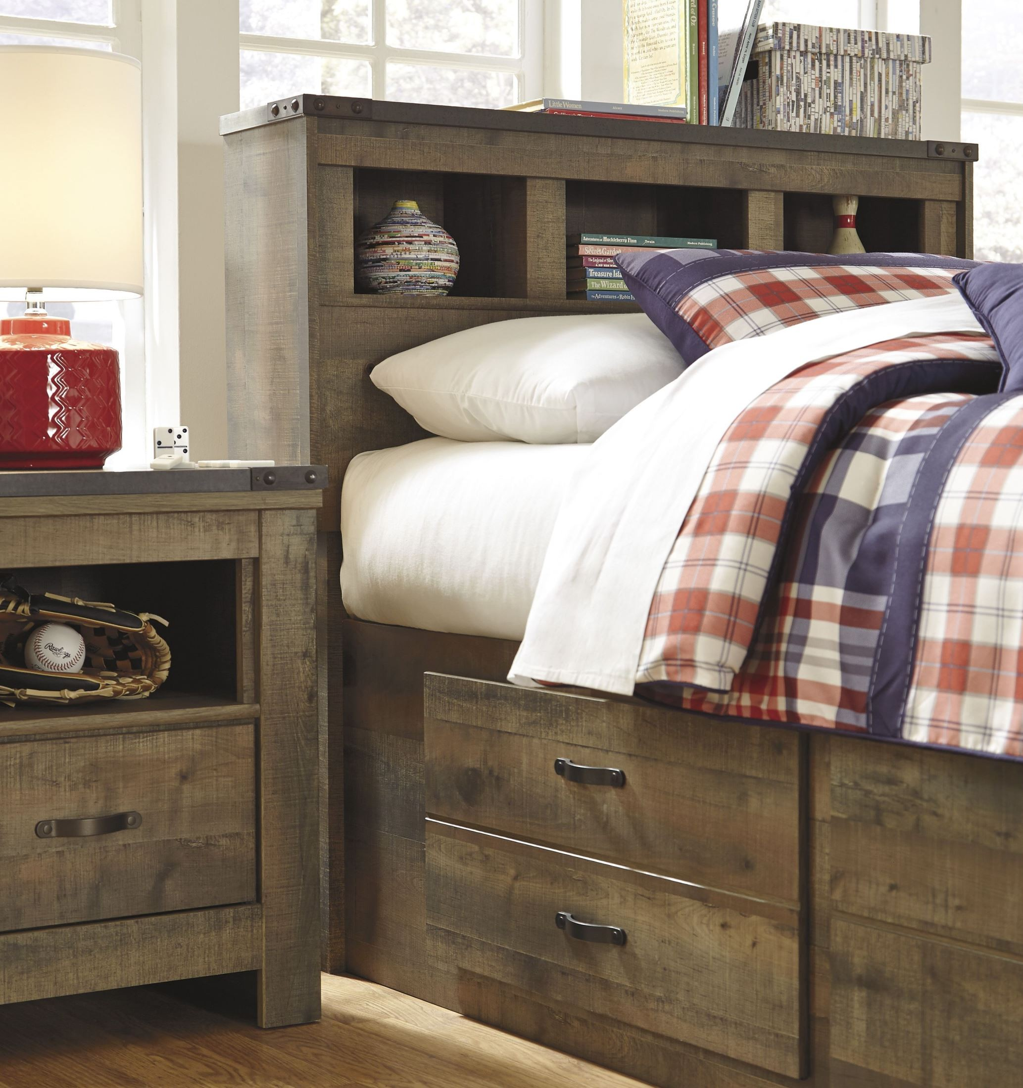 Trinell Brown Youth Bookcase Bedroom Set From Ashley B446 63 53 83 Coleman Furniture