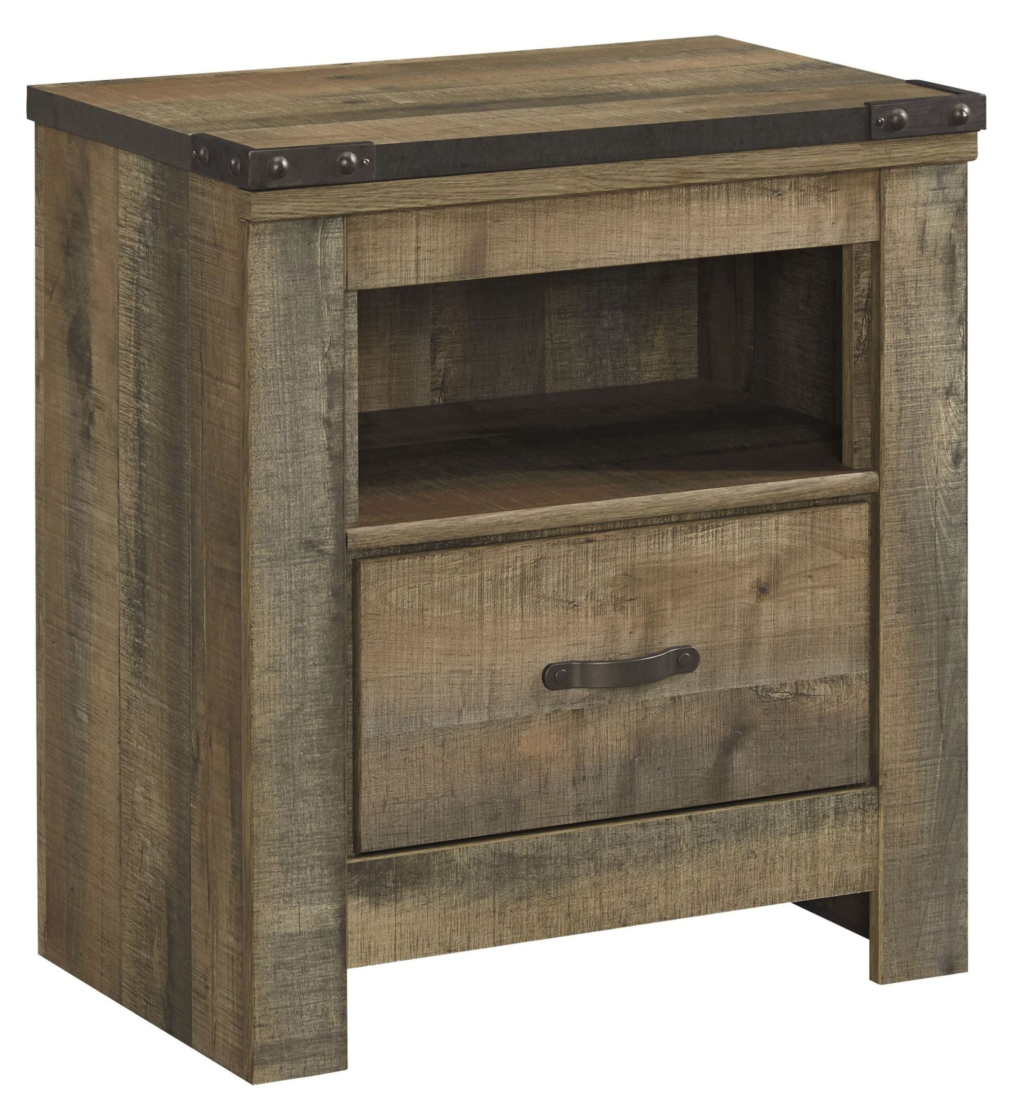 trinell brown one drawer night stand from ashley b446 91 coleman furniture. Black Bedroom Furniture Sets. Home Design Ideas
