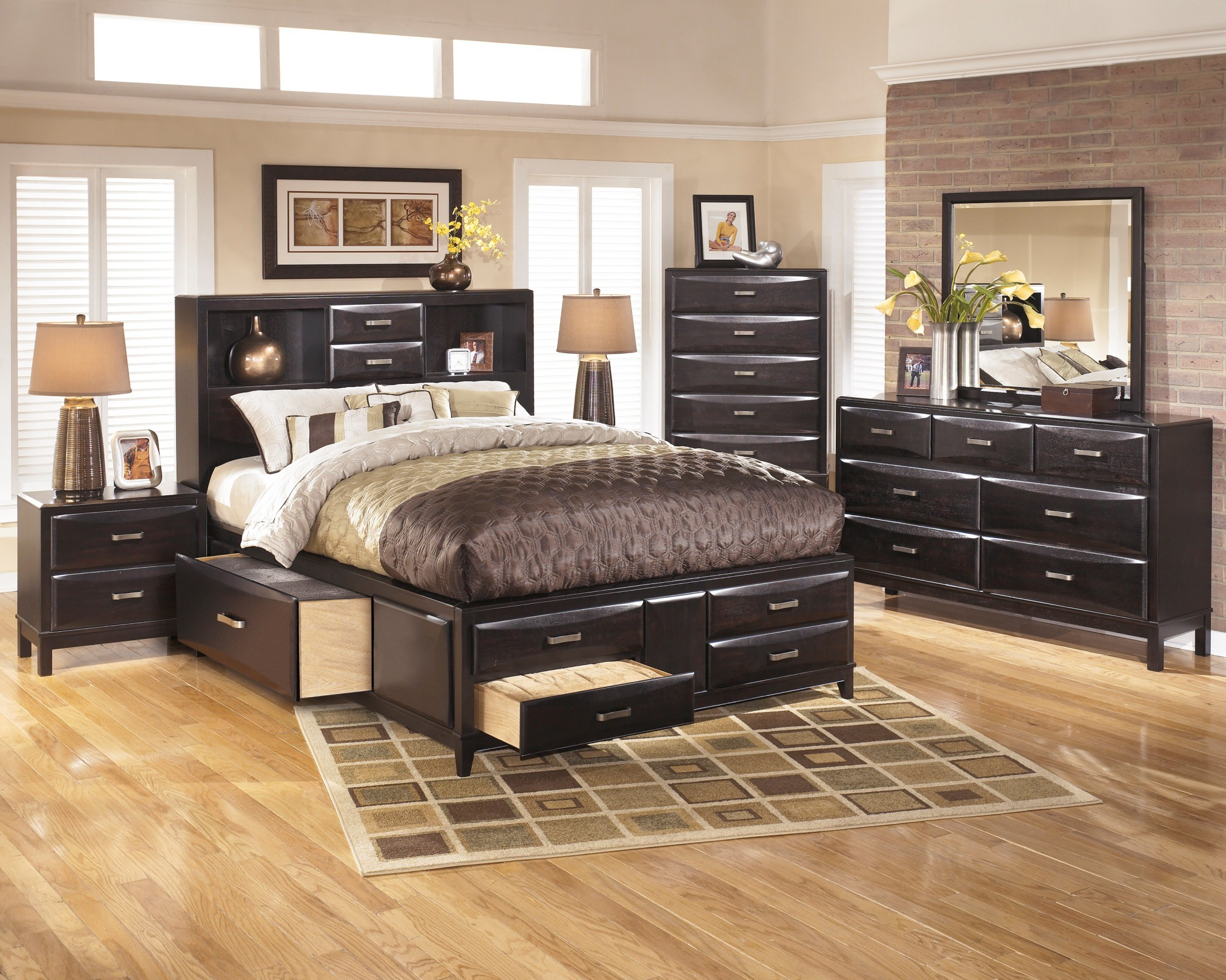Kira King Storage Bed From Ashley B473 66 69 99