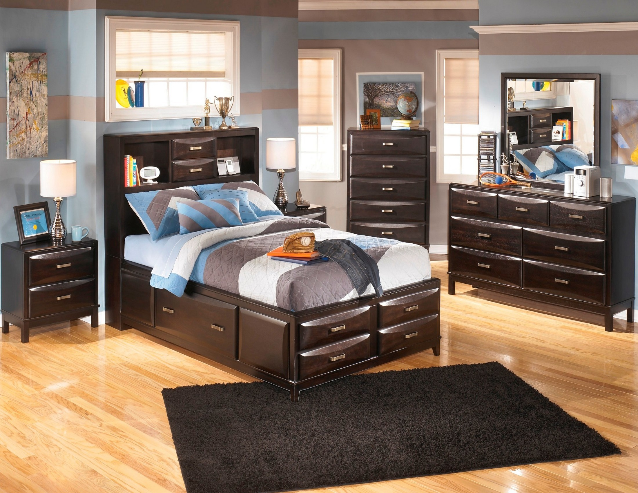 Kira youth storage bedroom set from ashley b473 coleman furniture for Youth storage bedroom furniture