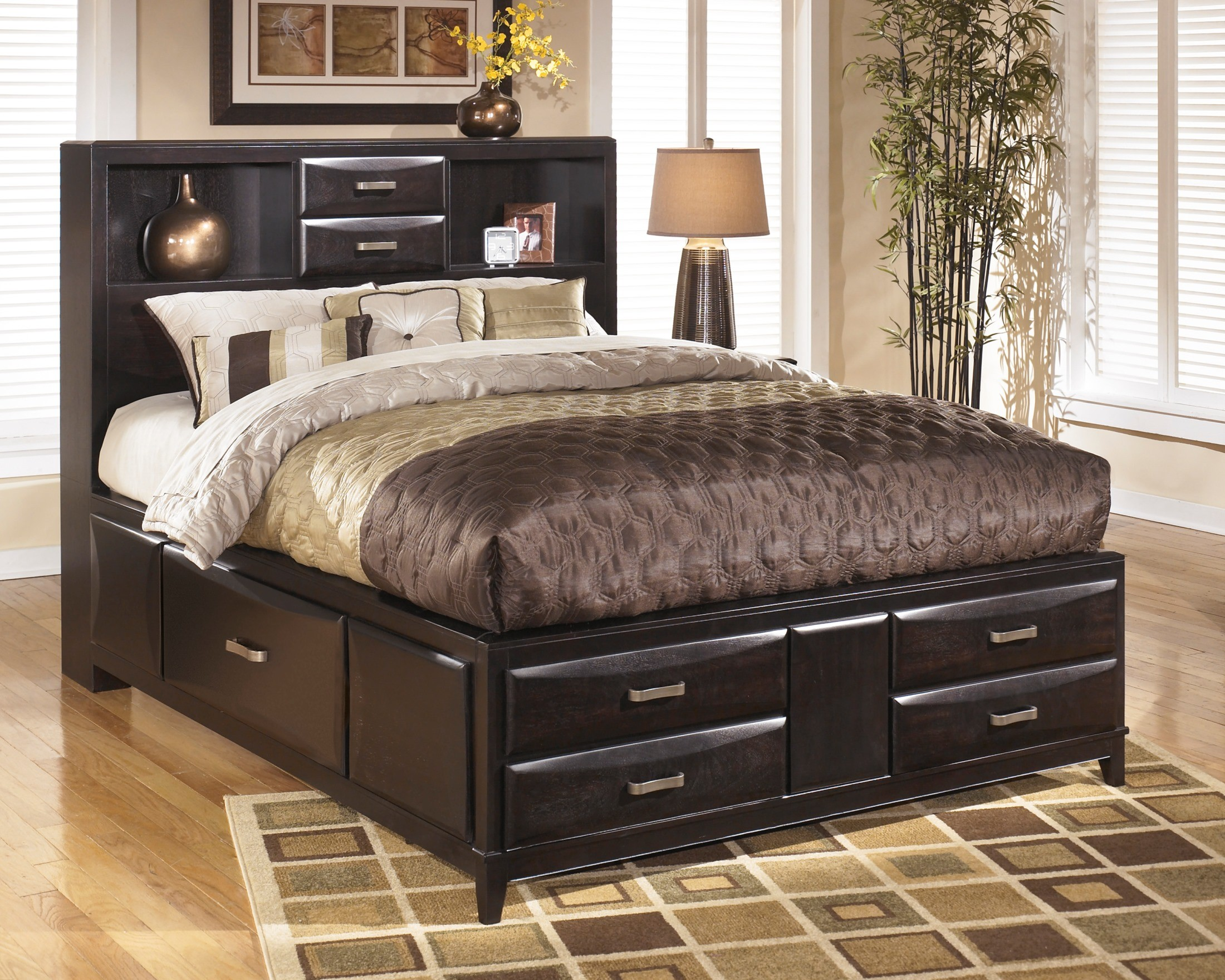 Kira cal king storage platform bed from ashley b473 66 69 - California king storage bedroom sets ...