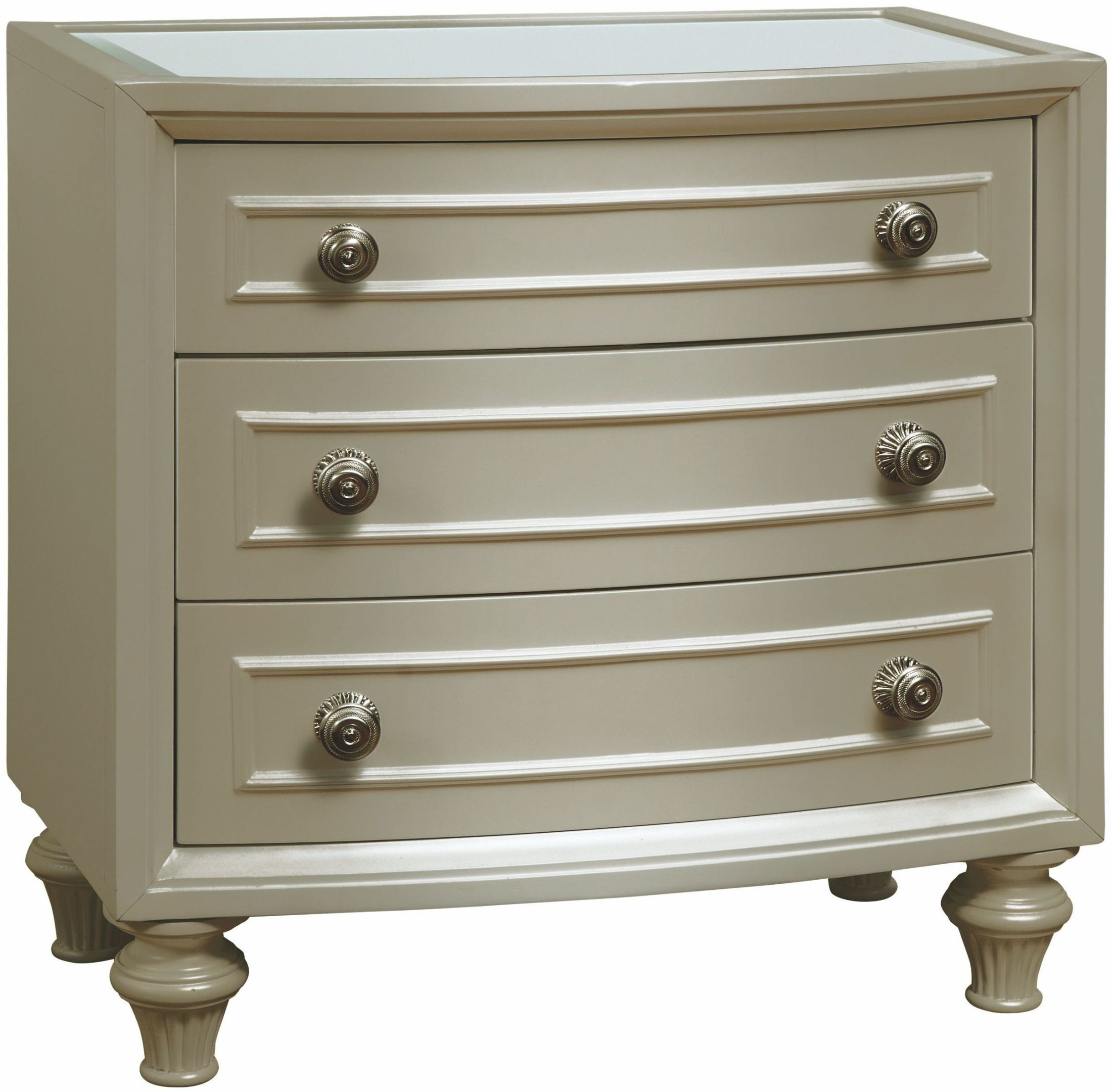 Regency Park Pearlized Silver Nightstand From Avalon