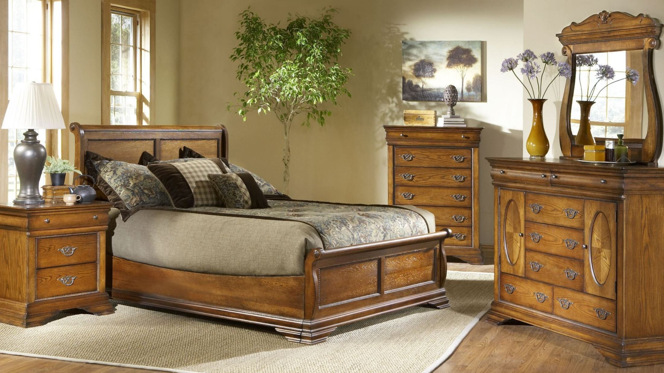 Shenandoah American Oak Panel Bedroom Set From Largo Coleman Furniture