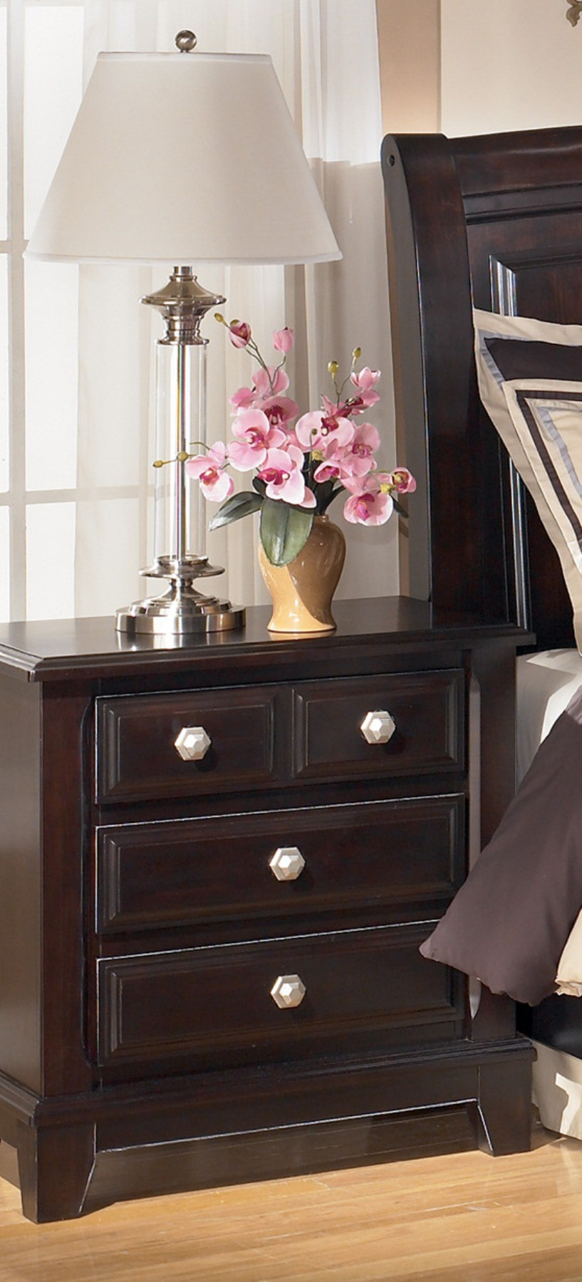 Ridgley 3 Drawer Night Stand From Ashley B520 93