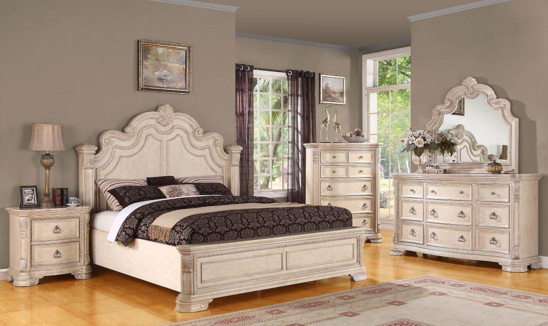 Riviera Alabaster Panel Bedroom Set From Emerald Home Coleman Furniture