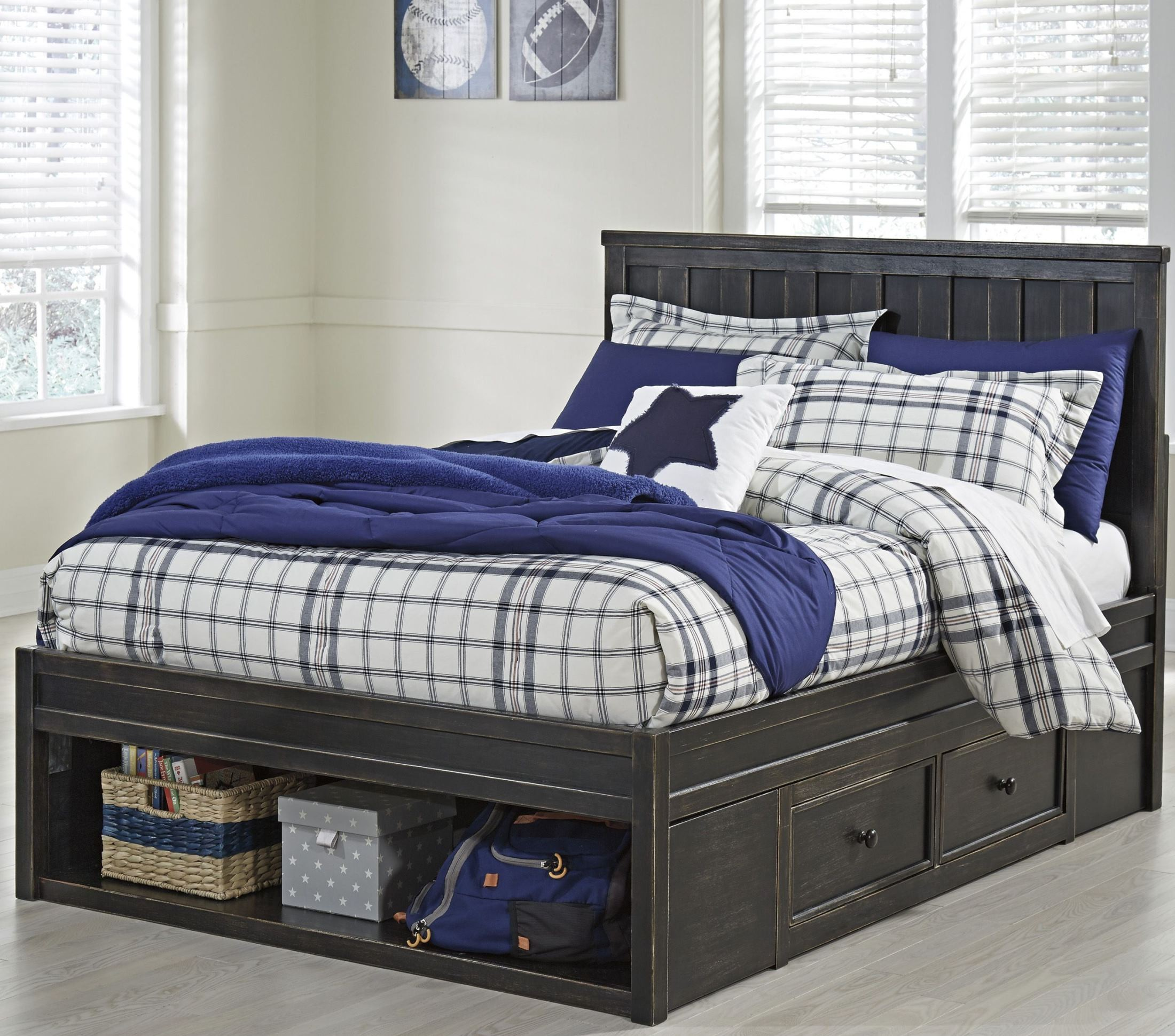 Jaysom Black Twin Panel Storage Bed From Ashley Coleman