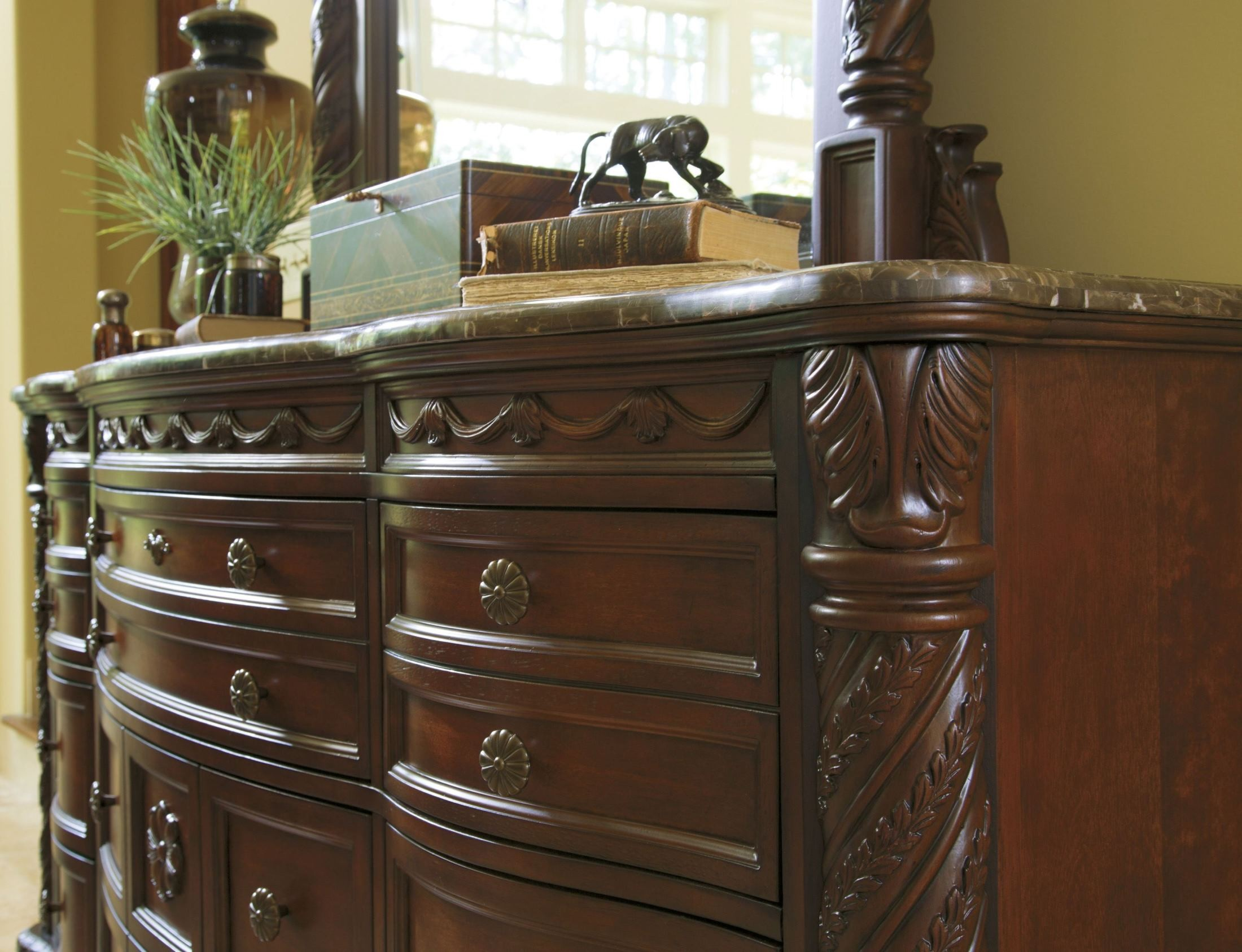 North shore dresser from ashley b553 131 coleman furniture - North shore sleigh bedroom set sale ...