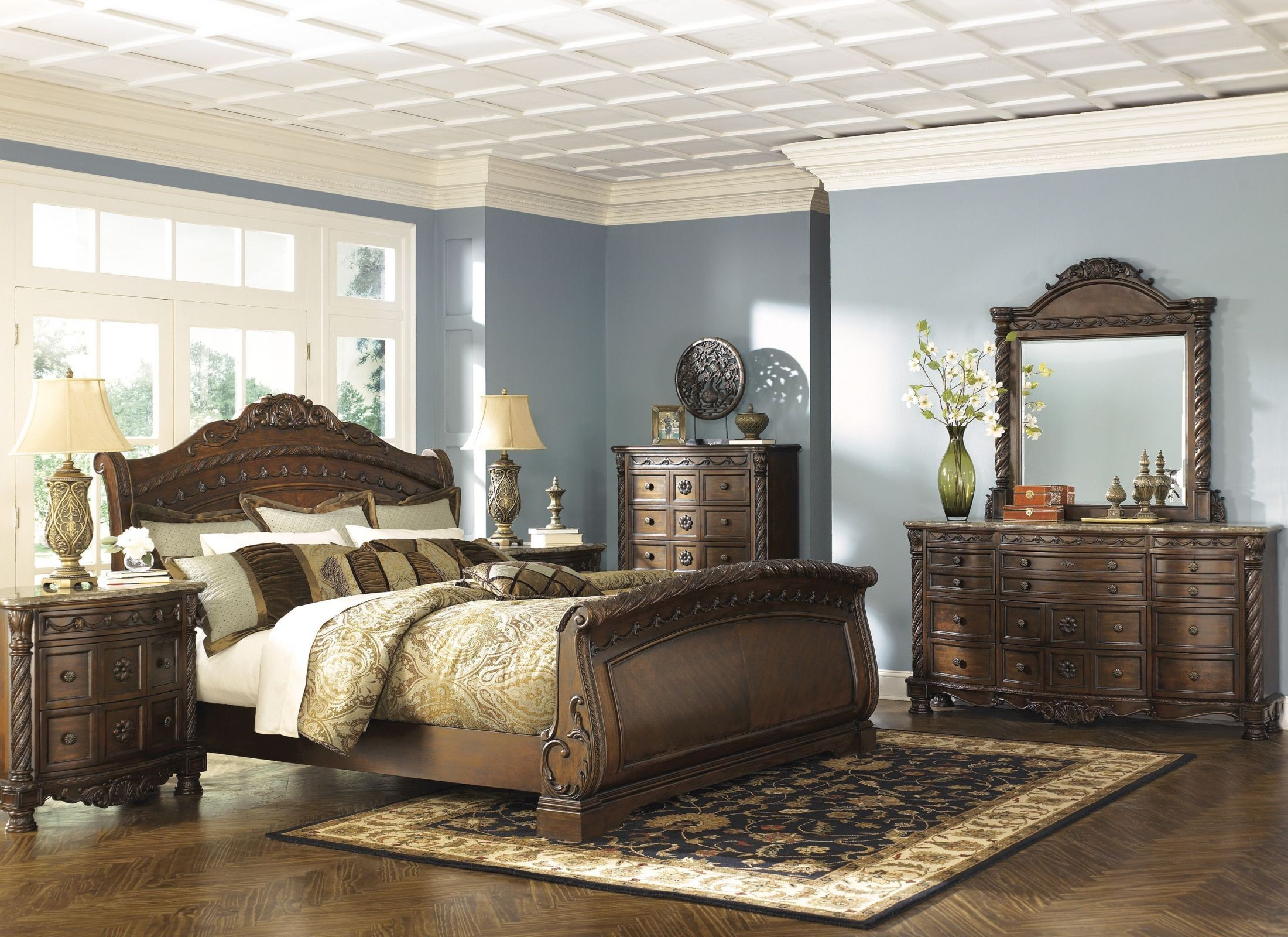 sleigh bedroom set shore sleigh bedroom set from b553 13170