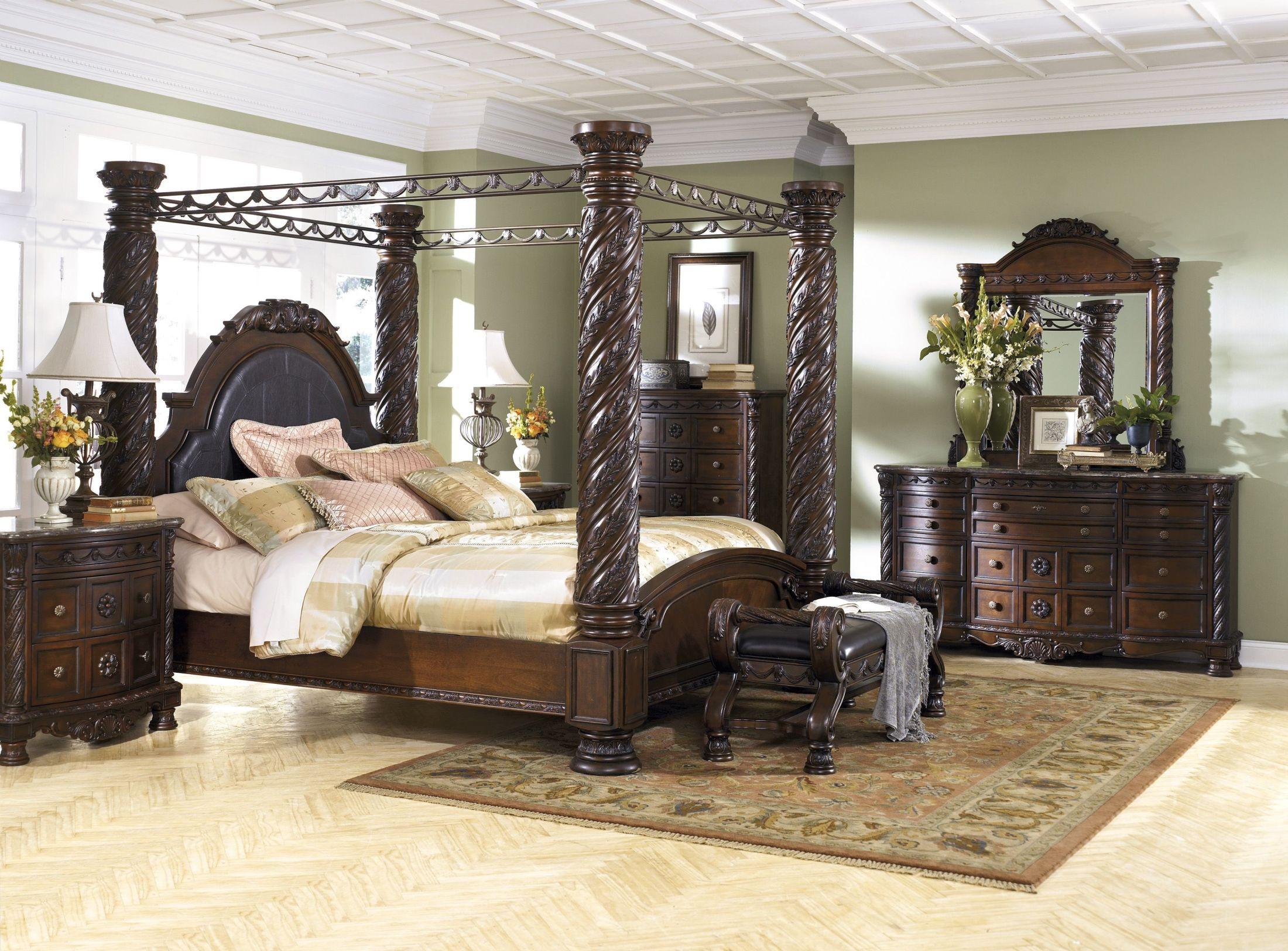 North Shore King Poster Bed with Canopy from Ashley Coleman