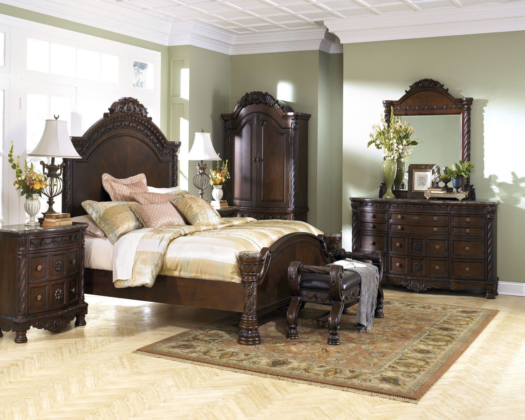 North shore panel bedroom set from ashley b553 coleman - Ashley furniture bedroom packages ...