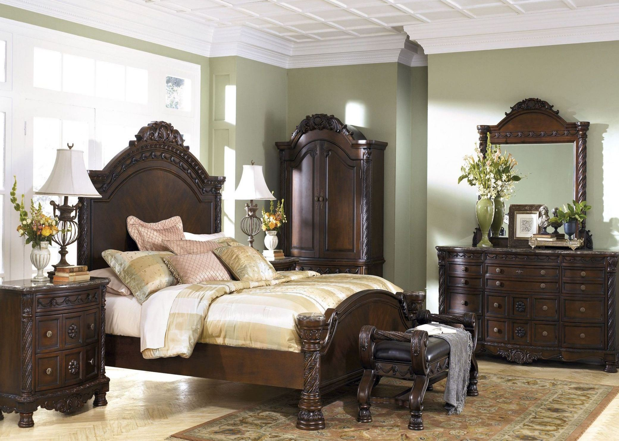north shore panel bedroom set from ashley b553 coleman furniture. Black Bedroom Furniture Sets. Home Design Ideas
