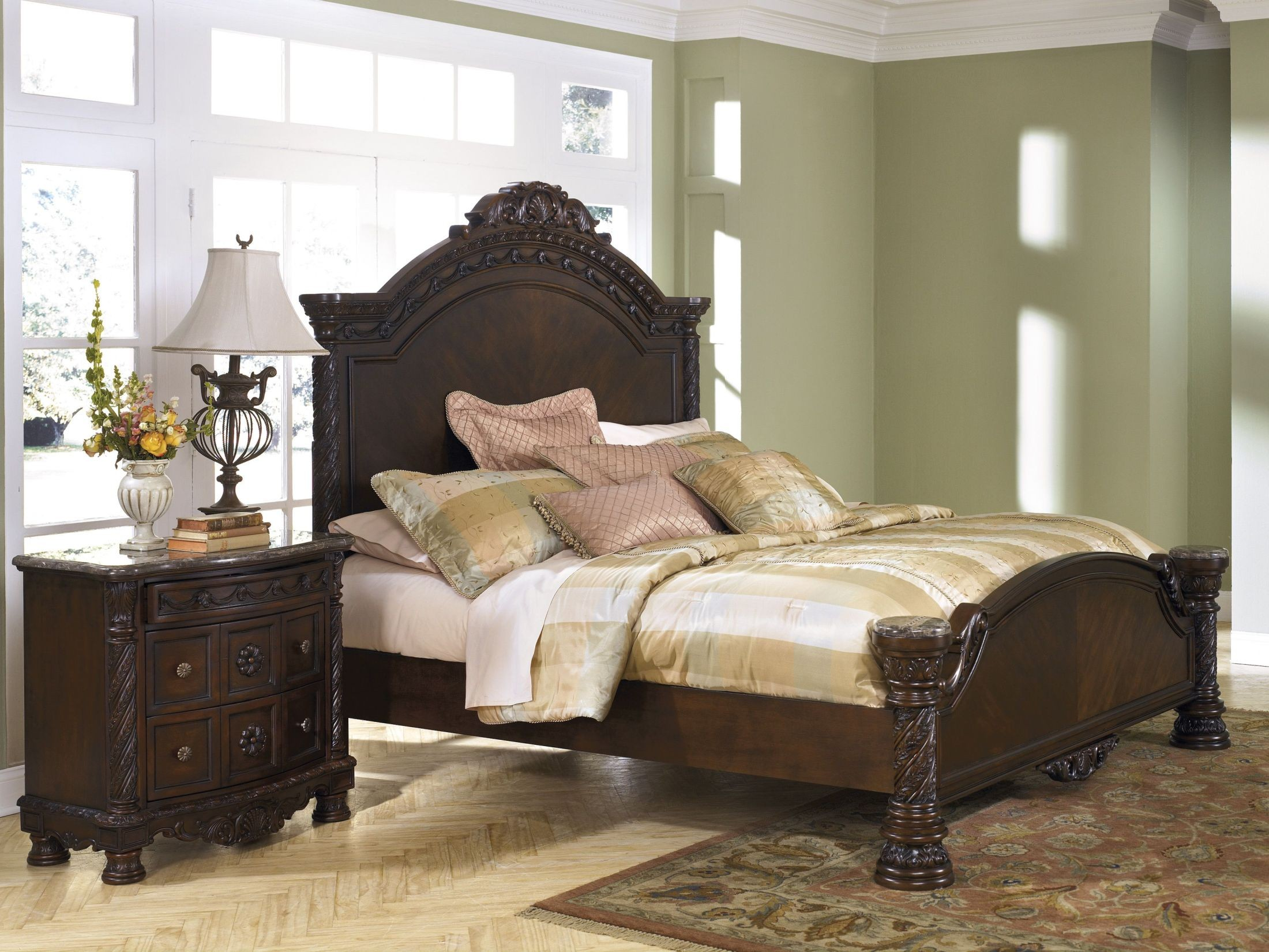 north shore king panel bed from ashley (b553-158-256-197