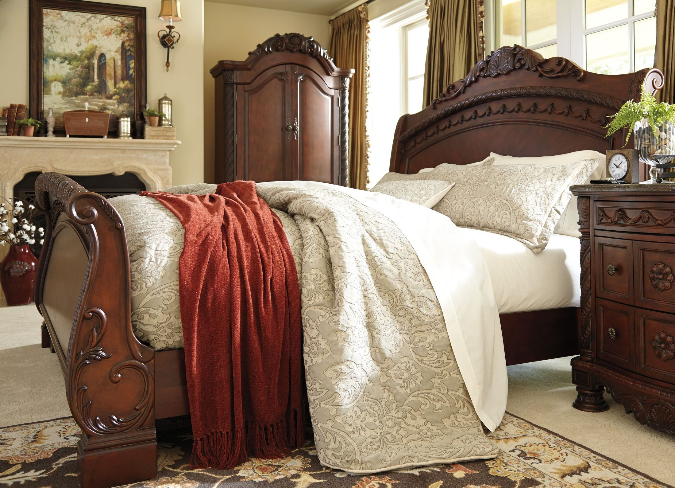 North Shore King Sleigh Bed From Ashley (B553-78-76-79
