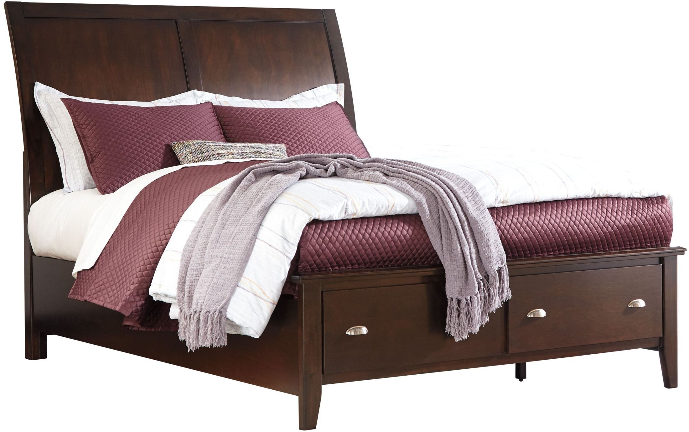 Evanburg Brown King Sleigh Storage Bed From Ashley