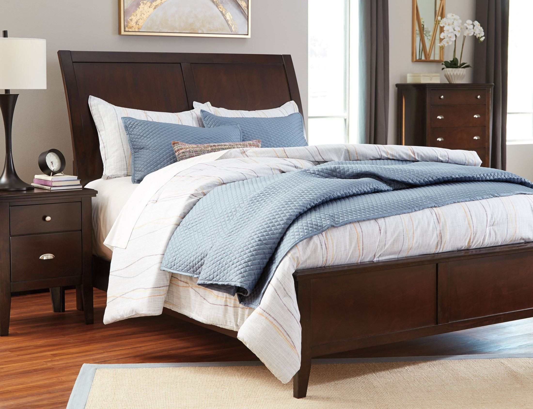 Evanburg Brown Cal King Sleigh Bed From Ashley Coleman Furniture