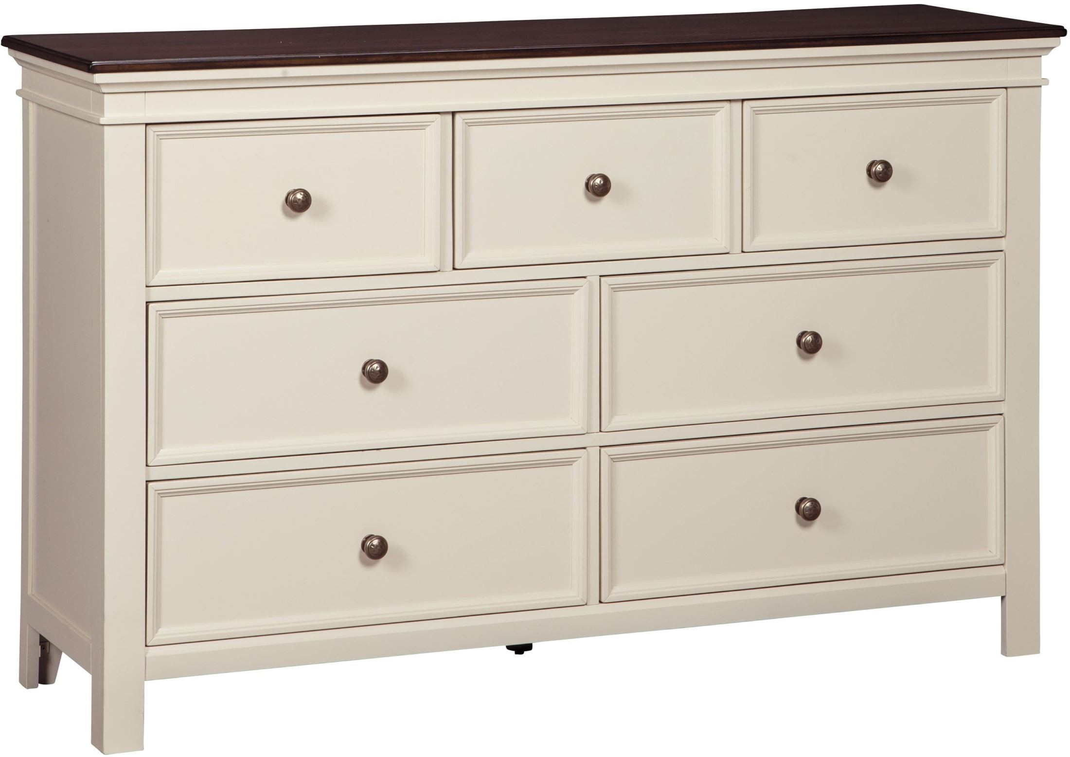 Bedroom Discount Furniture Woodanville White And Brown Dresser From Ashley Coleman