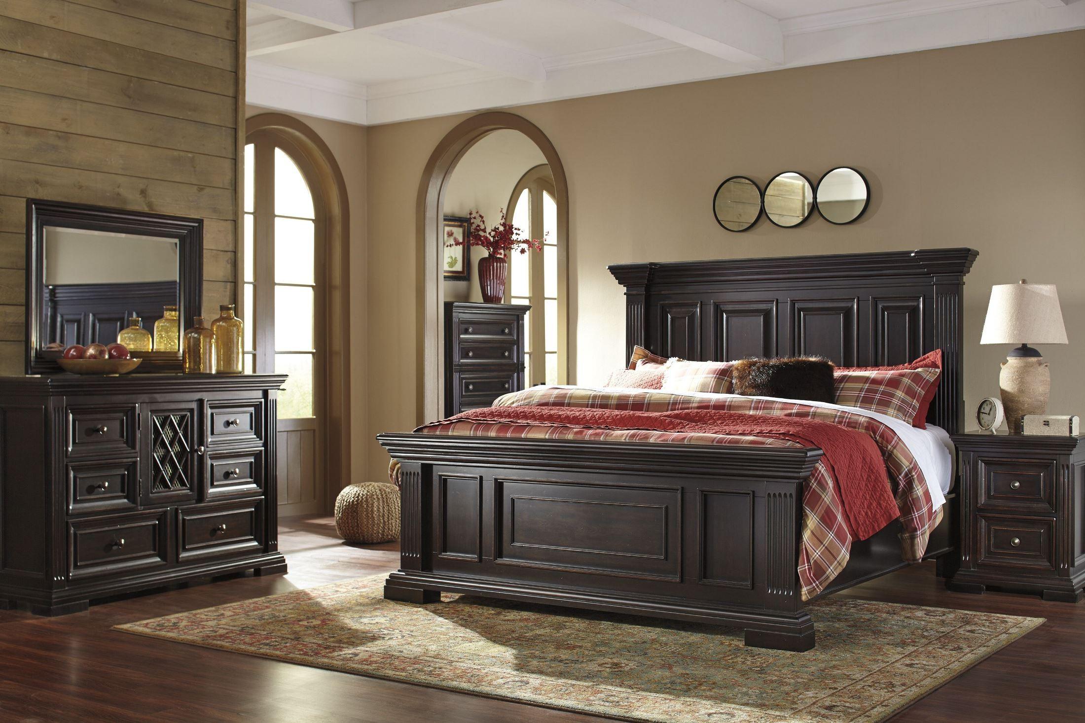 Willenburg Dark Brown Panel Bedroom Set, B643-57-54-96, Ashley