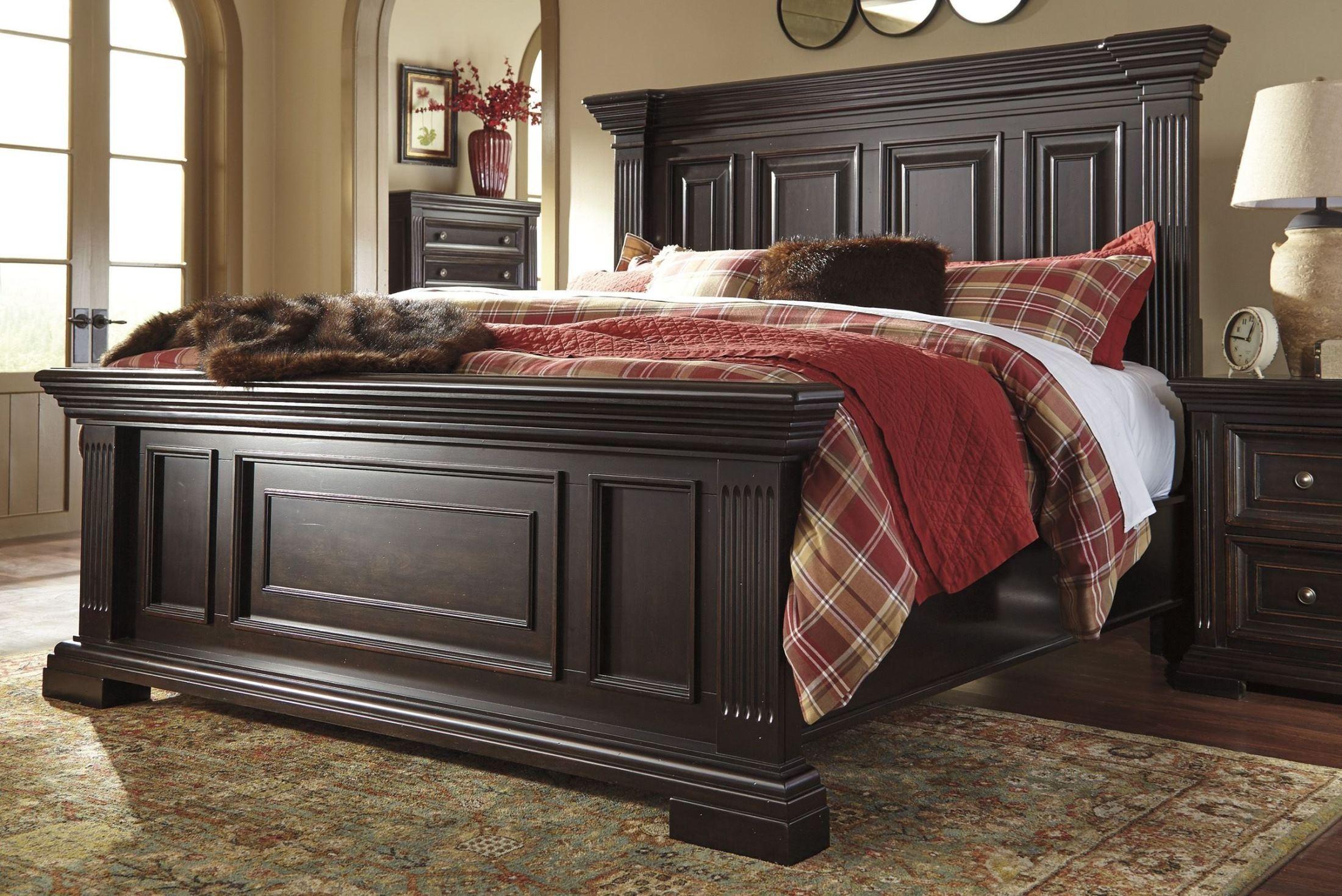 Willenburg dark brown panel bedroom set b643 57 54 96 ashley - King size bedroom sets for sale by owner ...
