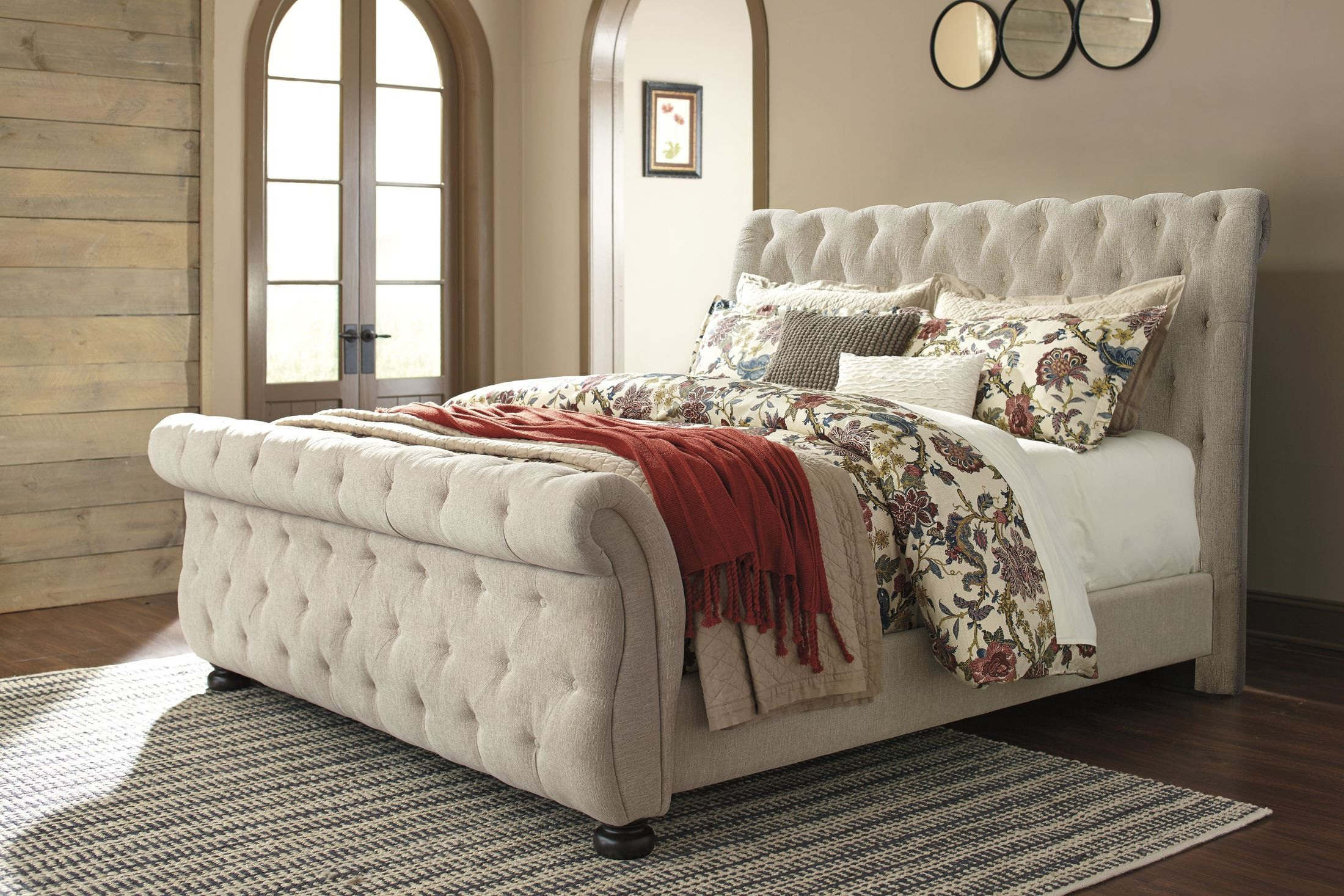 Willenburg Linen Cal King Upholstered Sleigh Bed From Ashley Coleman Furniture
