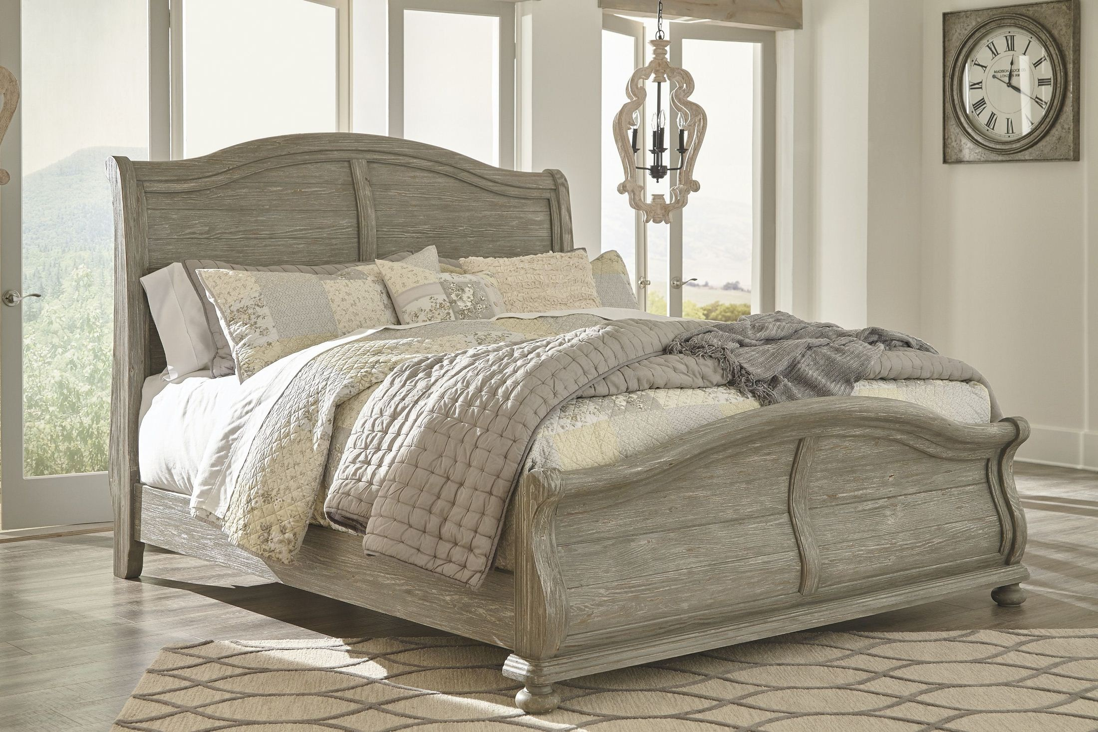 Marleny Gray And Whitewash Sleigh Bedroom Set From Ashley Coleman Furniture