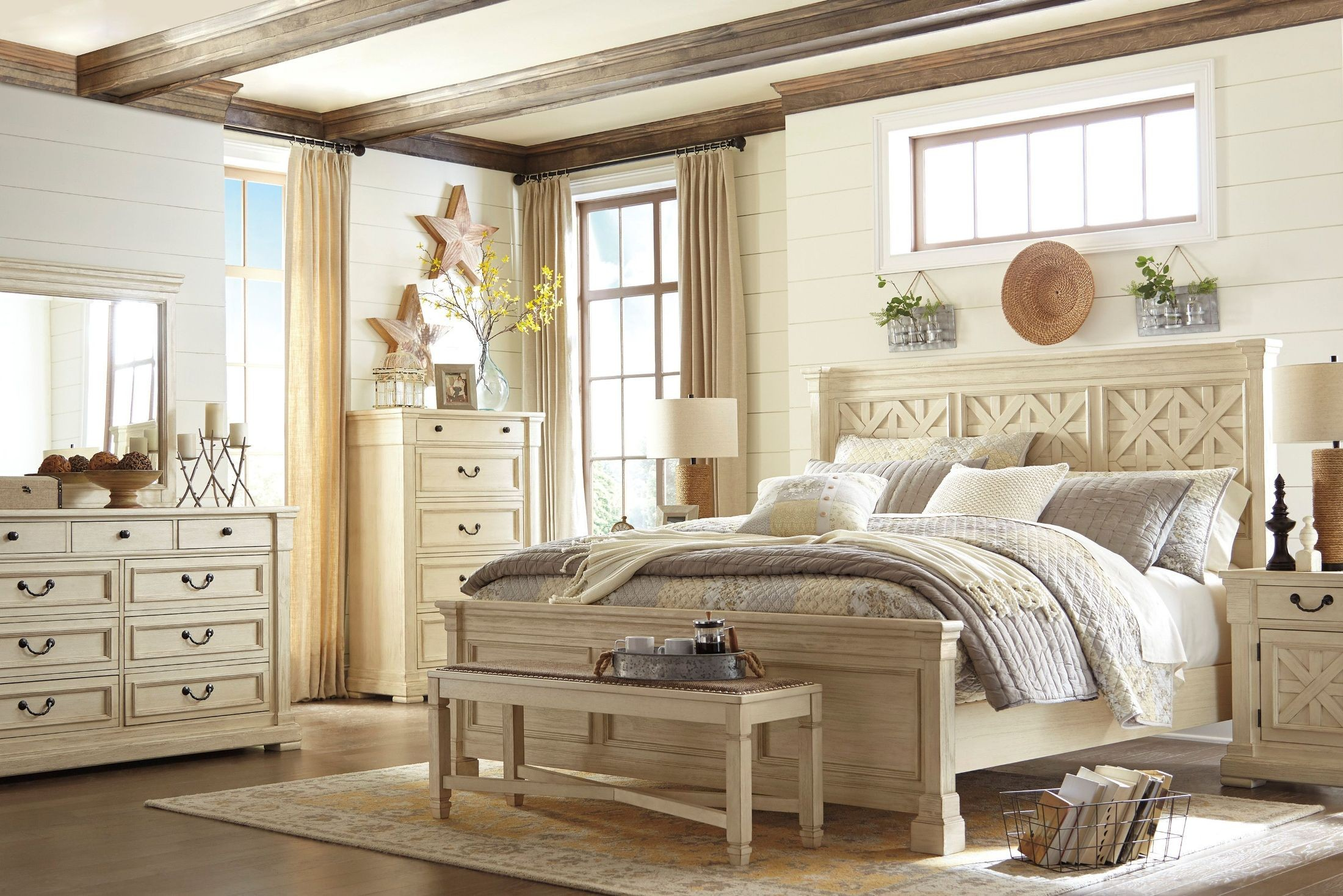 Bolanburg white panel bedroom set from ashley coleman - Ashley furniture bedroom packages ...