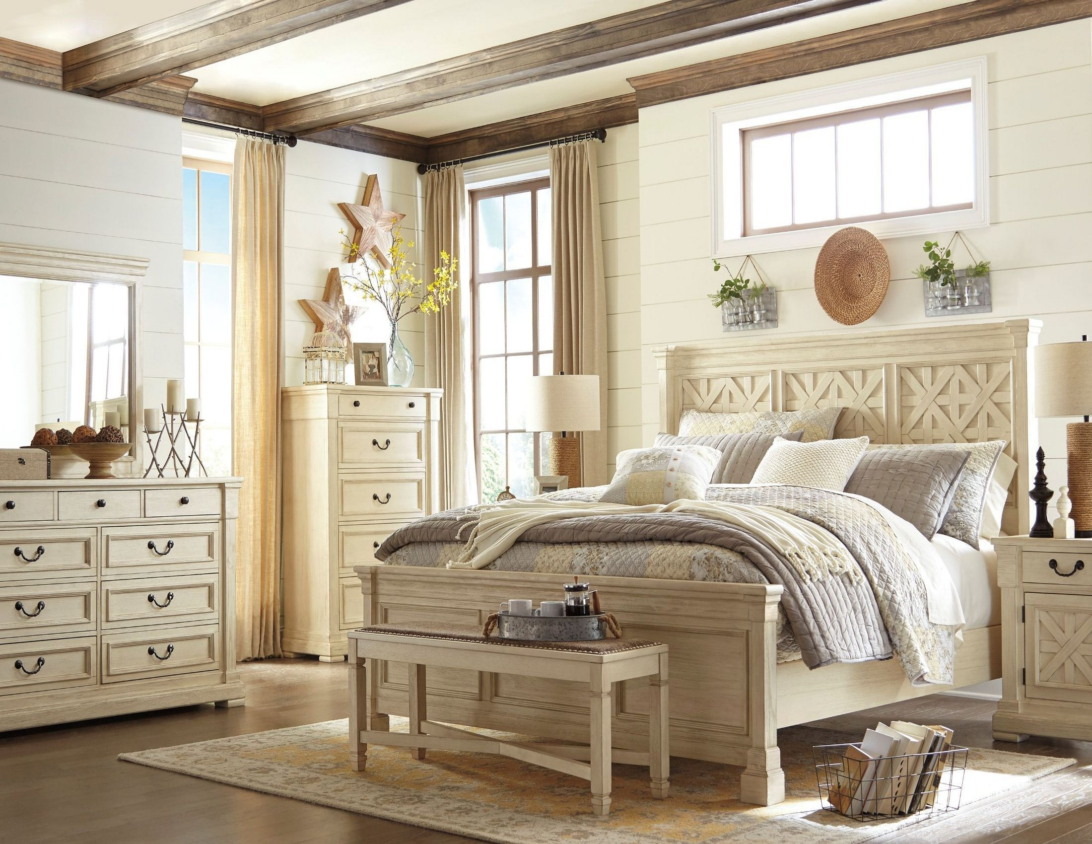 bolanburg white panel bedroom set from ashley coleman furniture. Black Bedroom Furniture Sets. Home Design Ideas
