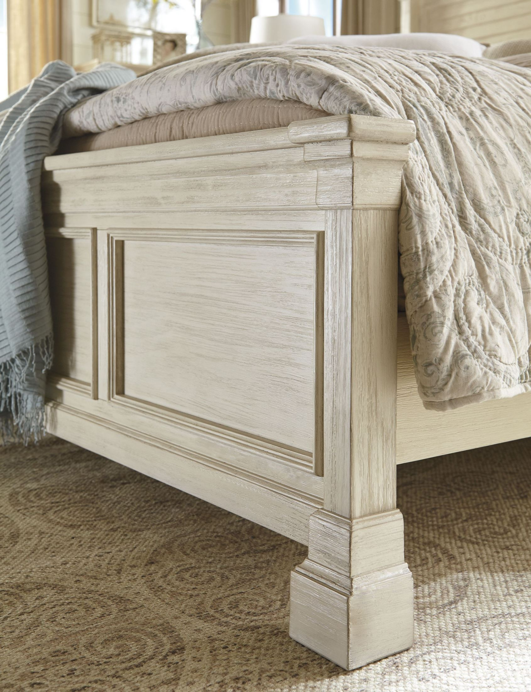 Bolanburg White Louvered Panel Bedroom Set from Ashley | Coleman ...