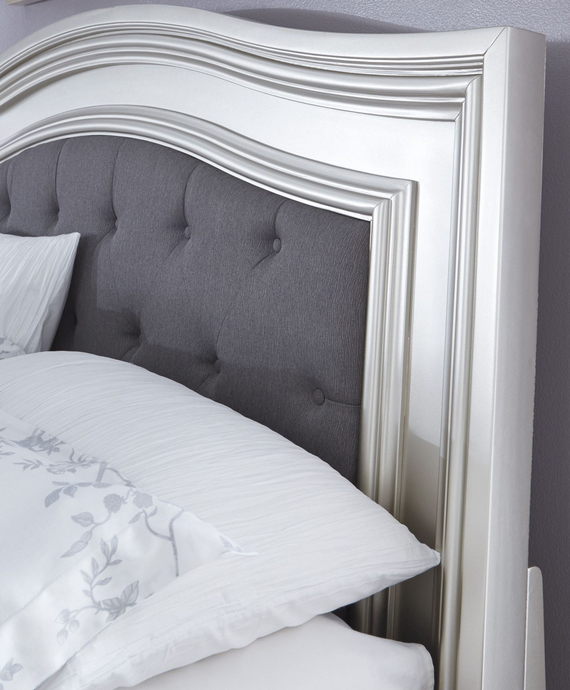 Coralayne Silver Queen Panel Bed From Ashley B650 157 54 96 Coleman Furniture