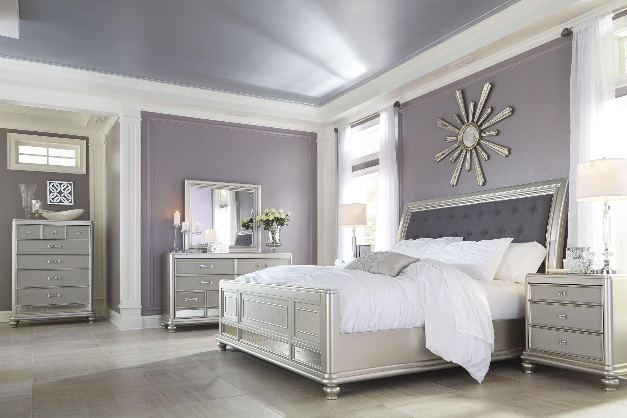 coralayne silver bedroom set b6501575496 ashley furniture