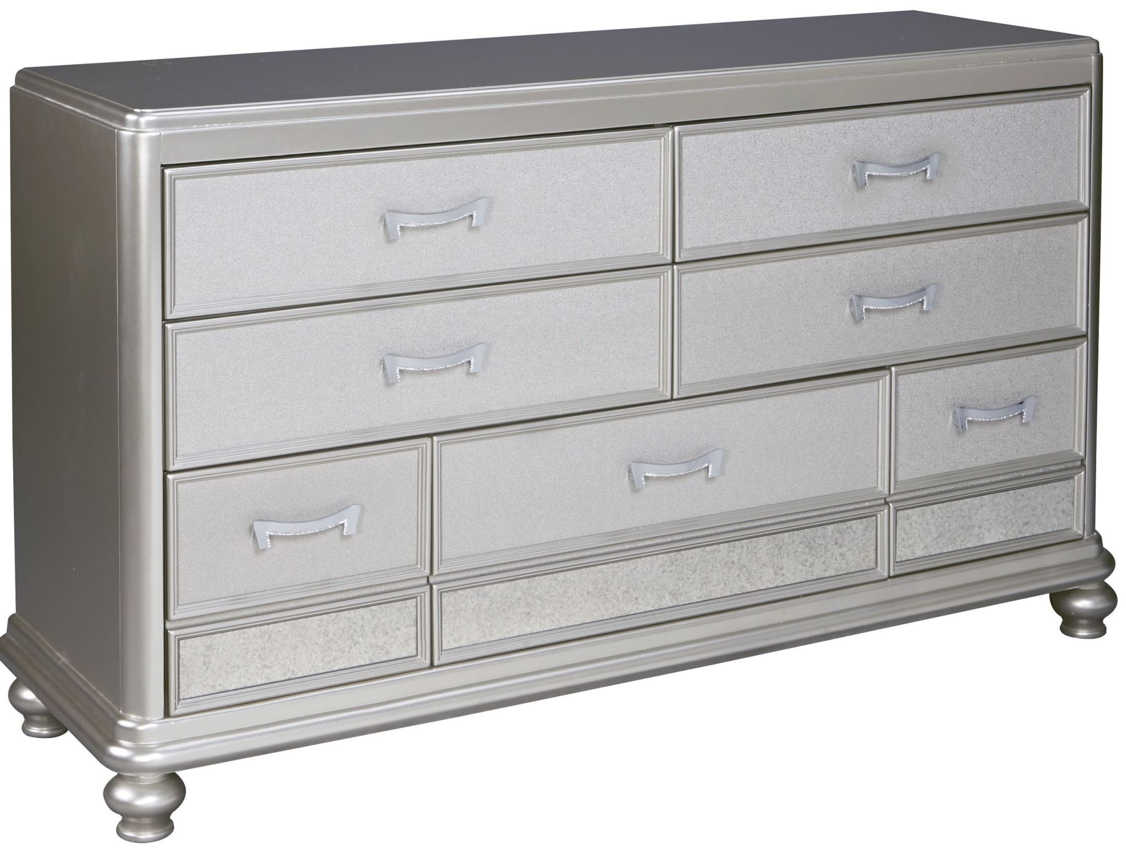 Coralayne Silver 7 Drawer Dresser From Ashley B650 31 Coleman Furniture