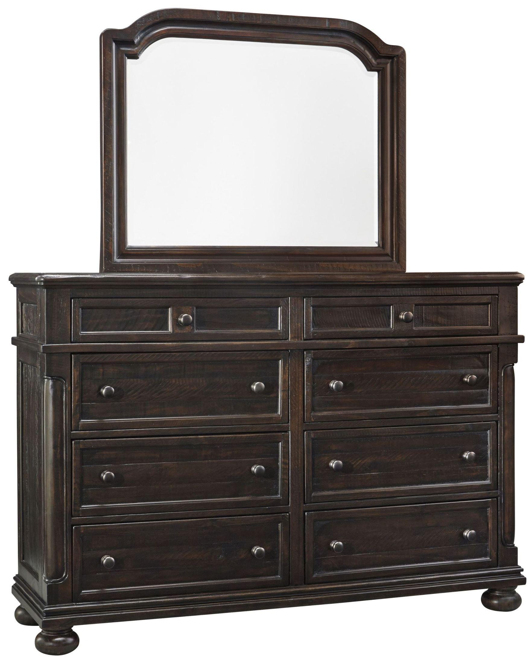 B657 77 Ashley Furniture Queen Upholstered Bed: Gerlane Graphite Upholstered Panel Bedroom Set, B657-74-77