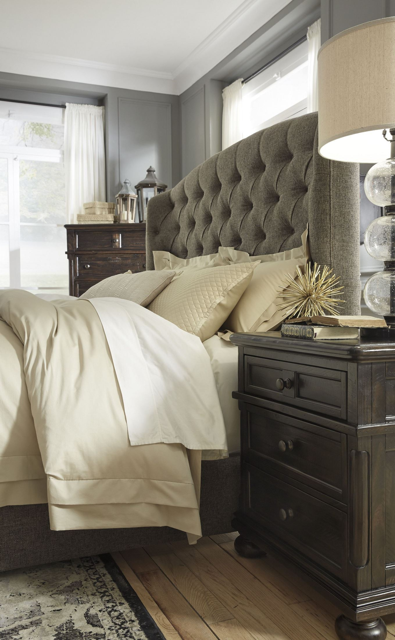 Gerlane Graphite King Upholstered Panel Bed From Ashley Coleman Furniture