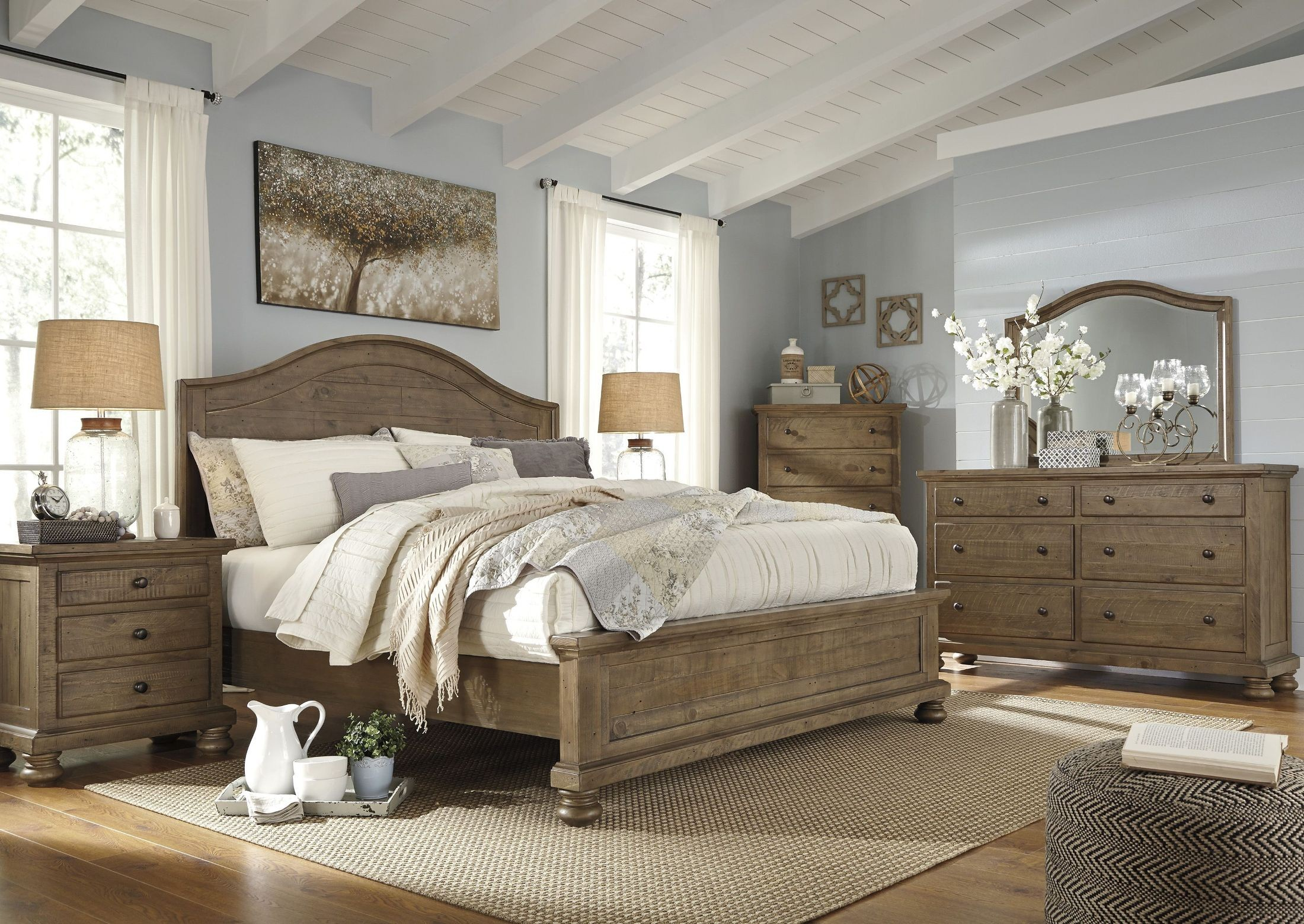 Trishley Light Brown Panel Bedroom Set From Ashley Coleman Furniture