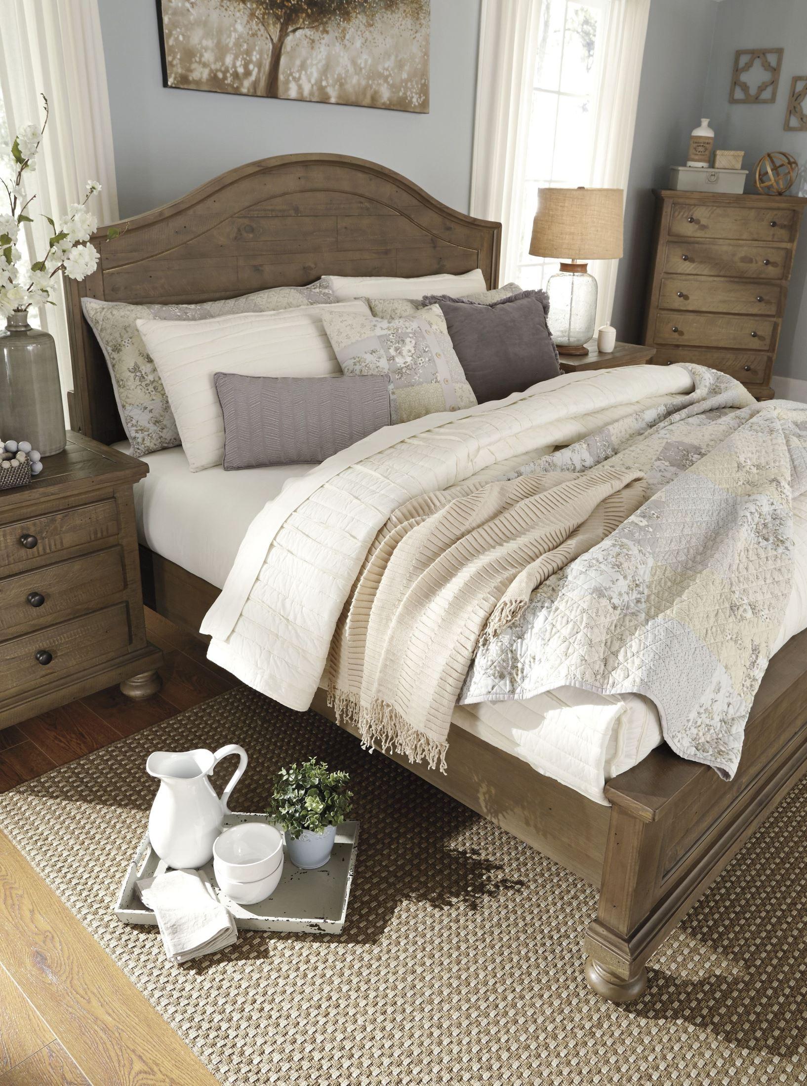 Trishley Light Brown Panel Bedroom Set, B659-57-54-96, Ashley