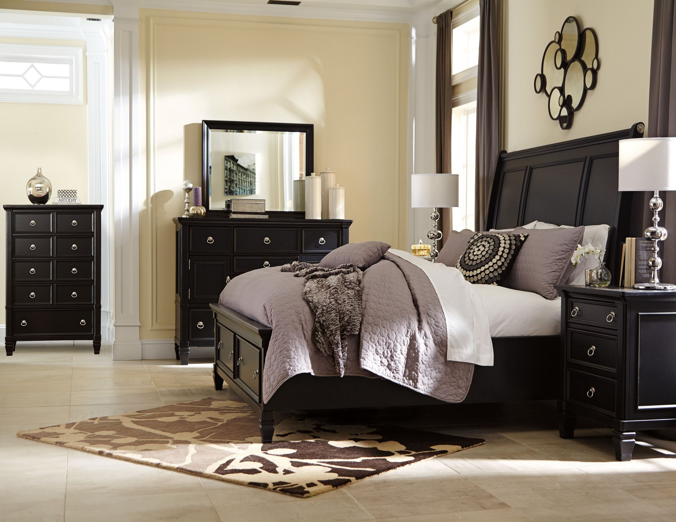 Greensburg Storage Sleigh Bedroom Set from Ashley (B671) | Coleman ...