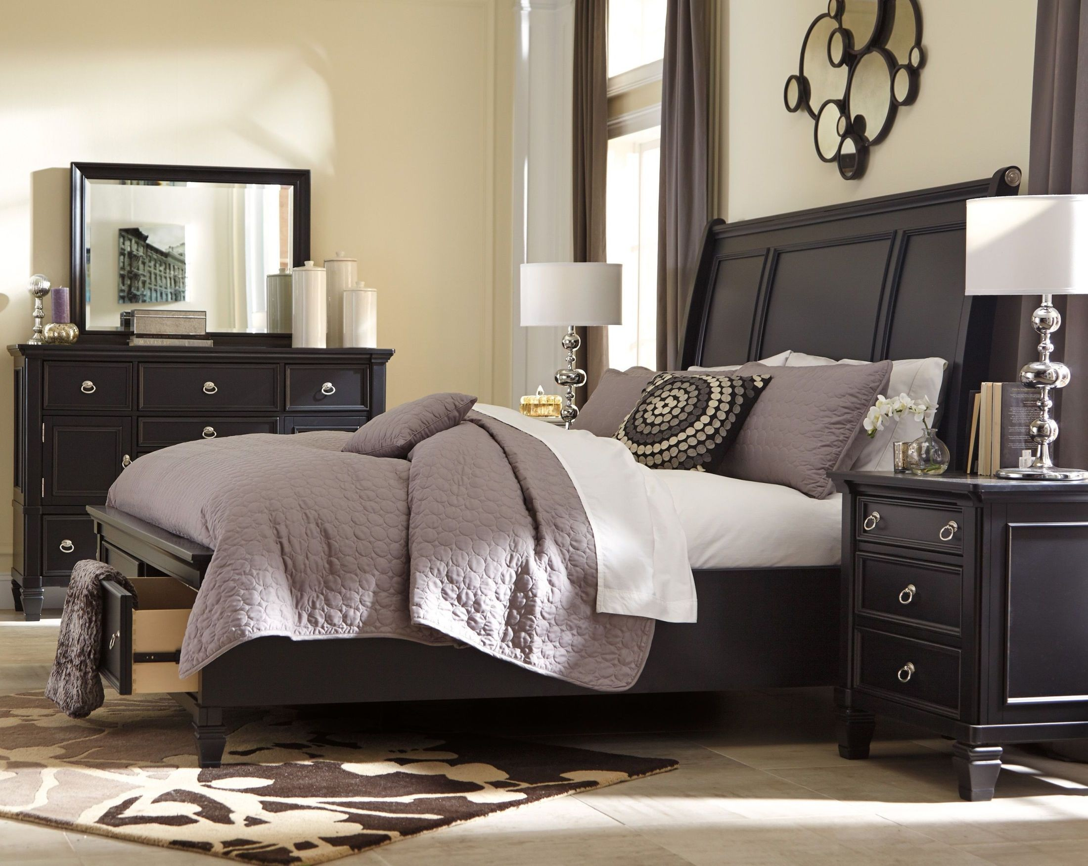 Greensburg Storage Sleigh Bedroom Set From Ashley B671 Coleman Furniture