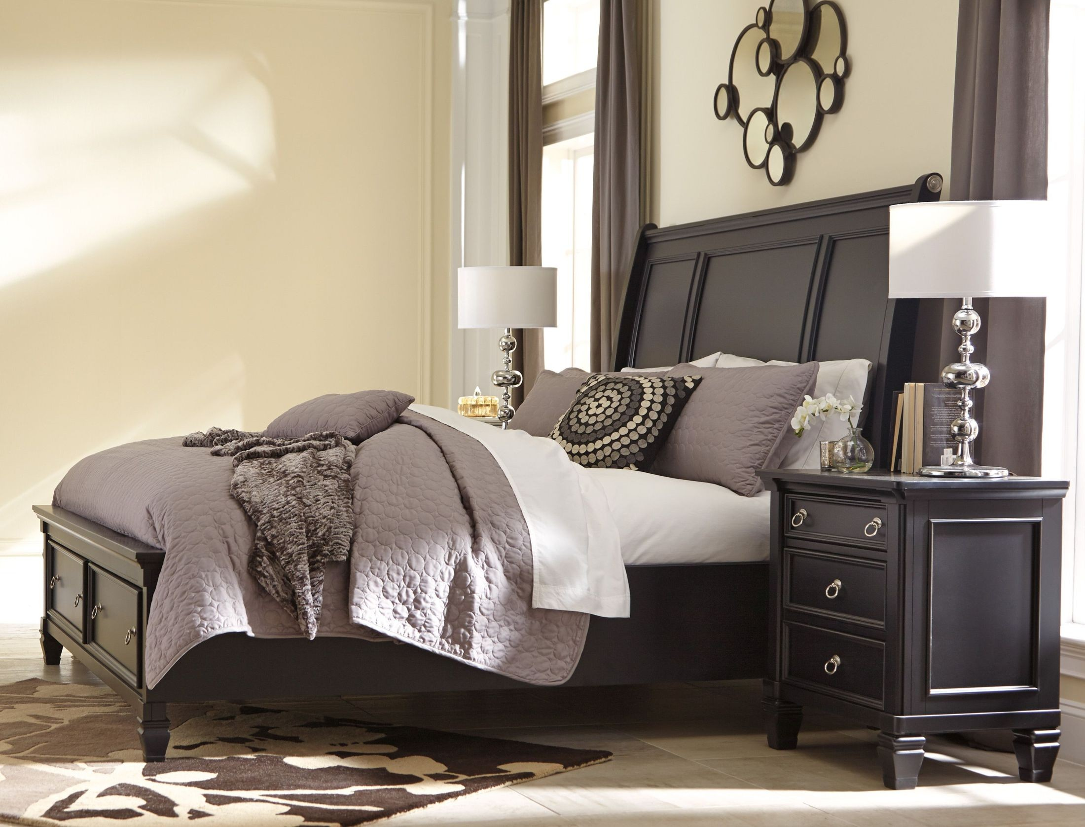 greensburg queen storage sleigh bed from ashley b67174