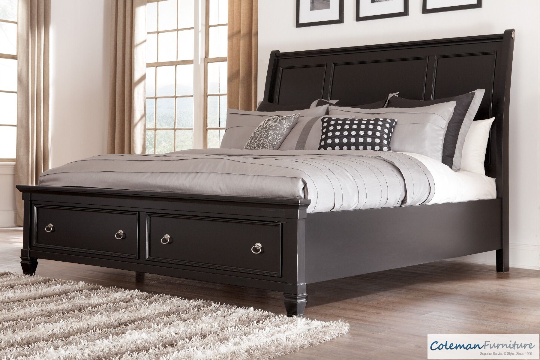 Greensburg Queen Storage Sleigh Bed From Ashley B671 74 77 98 Coleman Furniture
